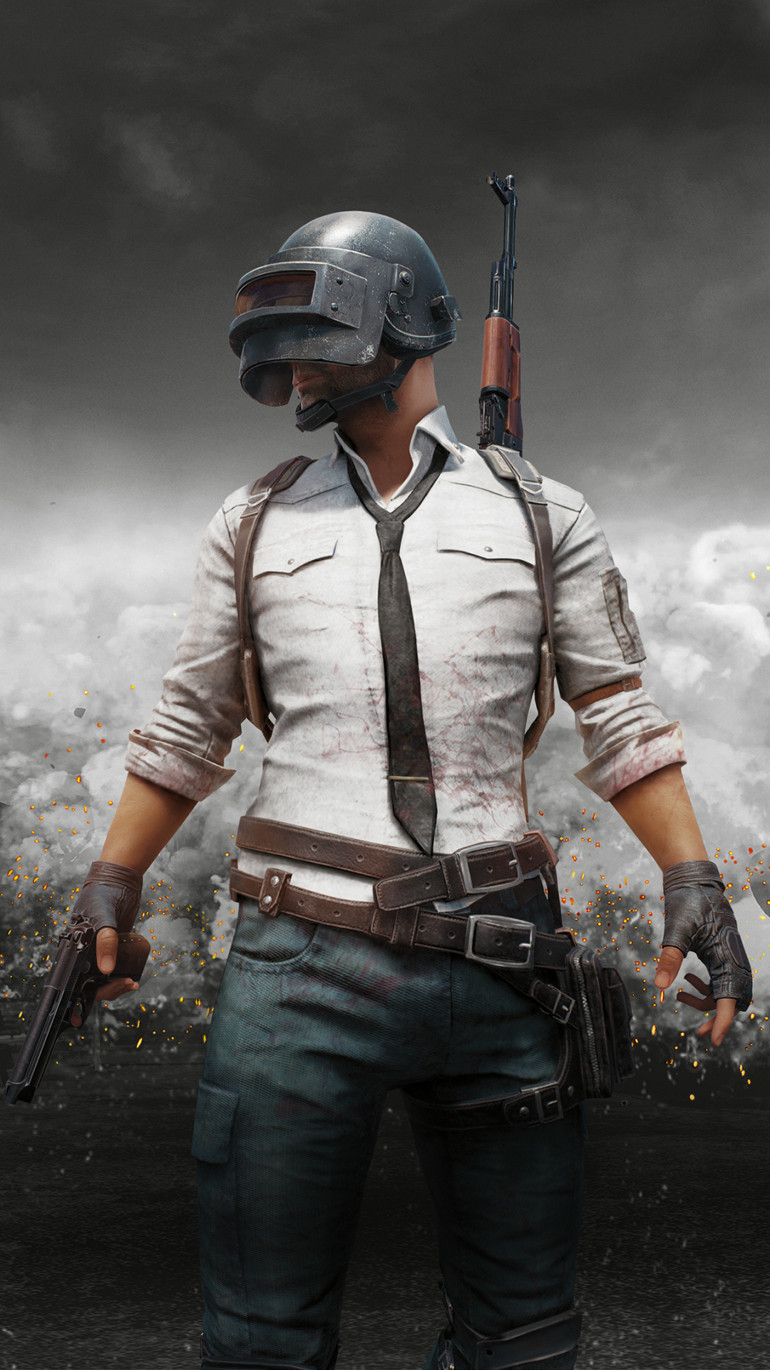 Pubg, Mobile 2018, Monochrome, Wallpaper - Pubg Wallpaper 4k Mobile , HD Wallpaper & Backgrounds