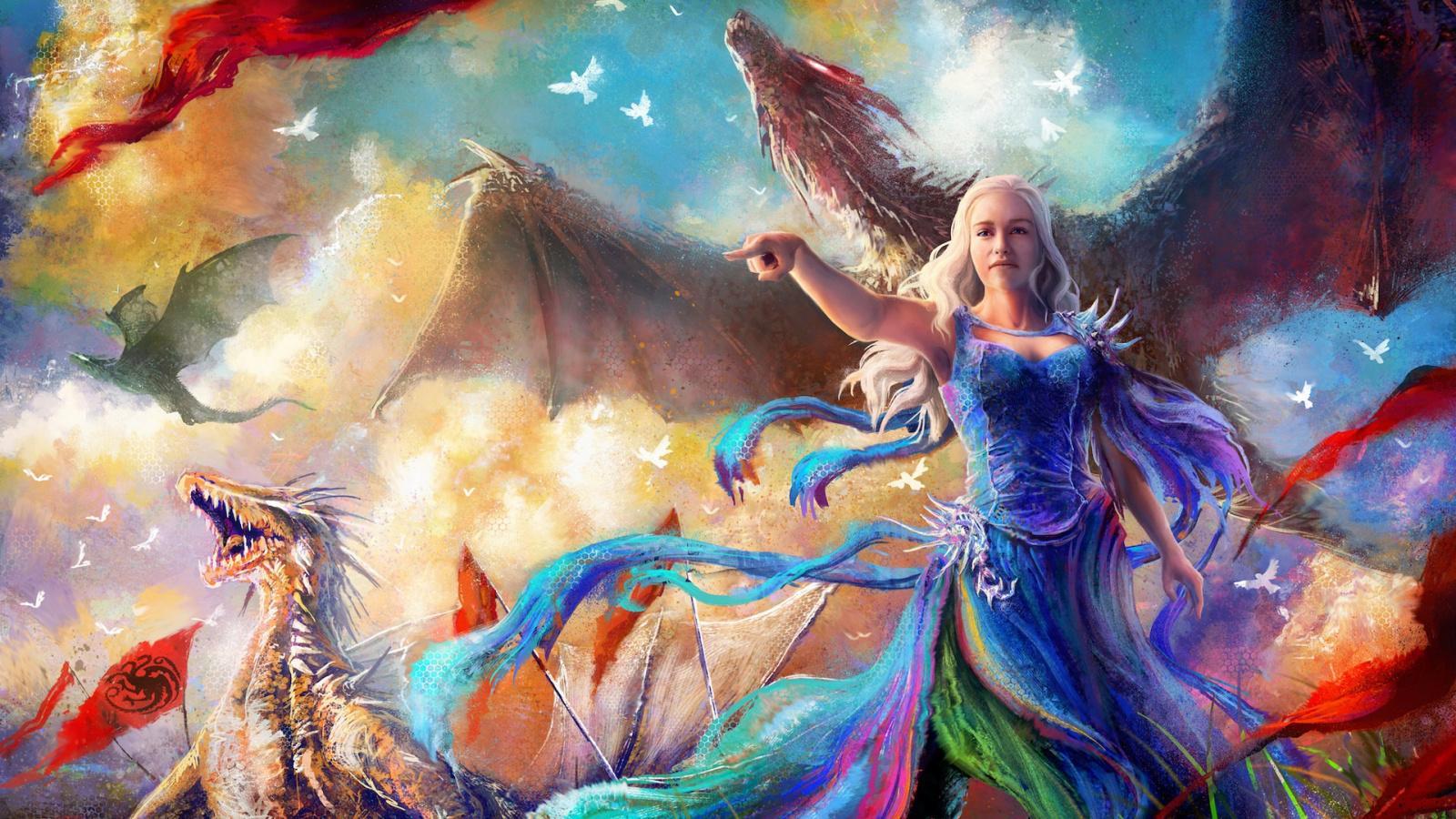 Download Wallpaper - Daenerys Targaryen Wallpaper Anime , HD Wallpaper & Backgrounds