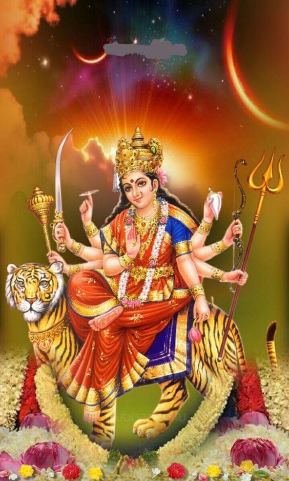 Durga - Mata Rani Images Download , HD Wallpaper & Backgrounds