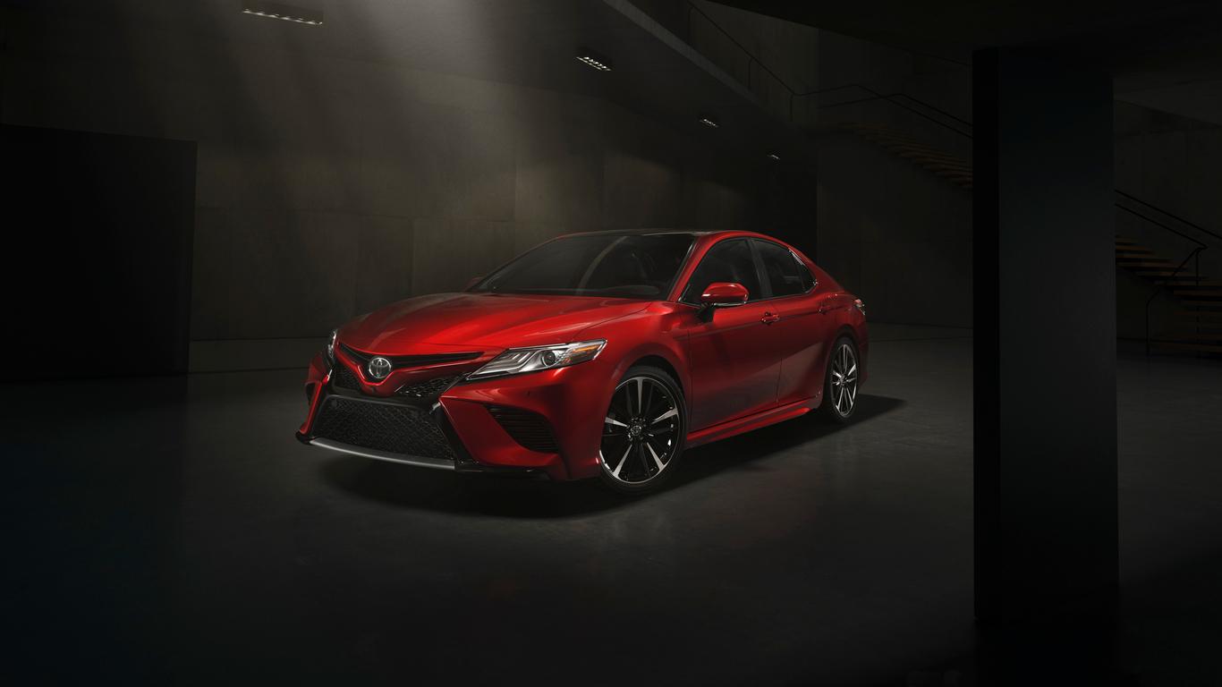 Toyota Camry Xse Ke - Toyota Camry 2018 Rojo , HD Wallpaper & Backgrounds
