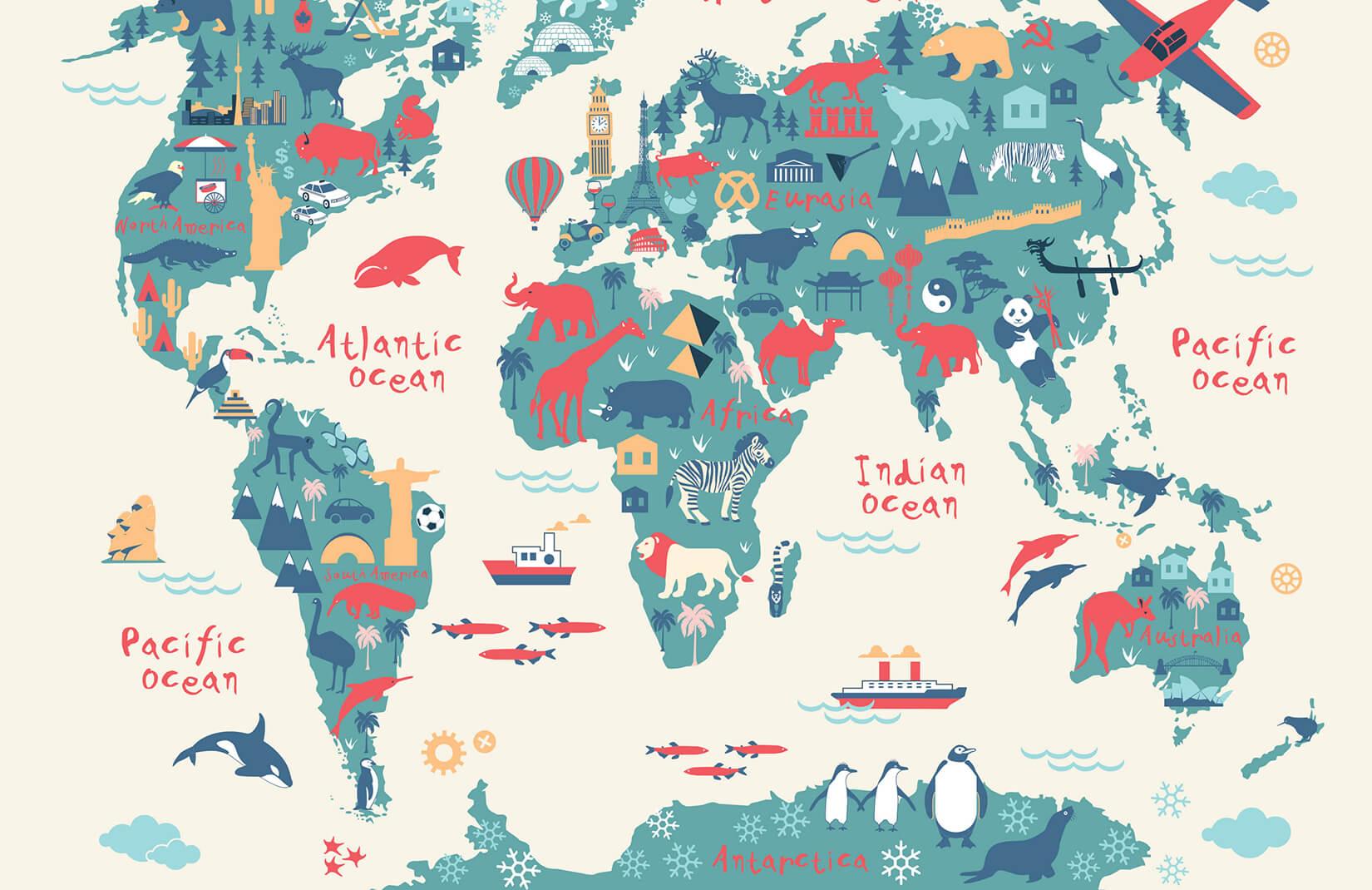 Kids World Map , HD Wallpaper & Backgrounds