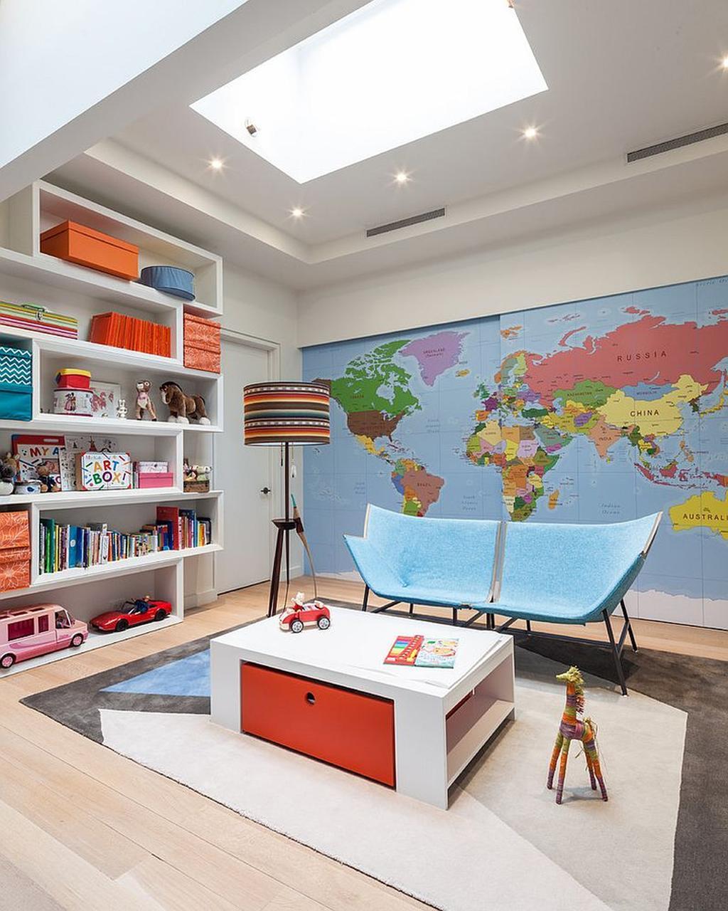103323 2018 World Map Wallpaper Kids Room Bedroom Sets