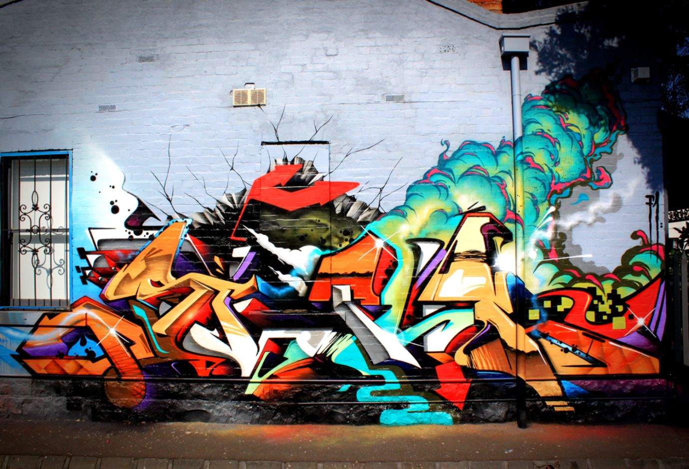Graffiti Background Wall Street Art - Street Art Wall Background , HD Wallpaper & Backgrounds