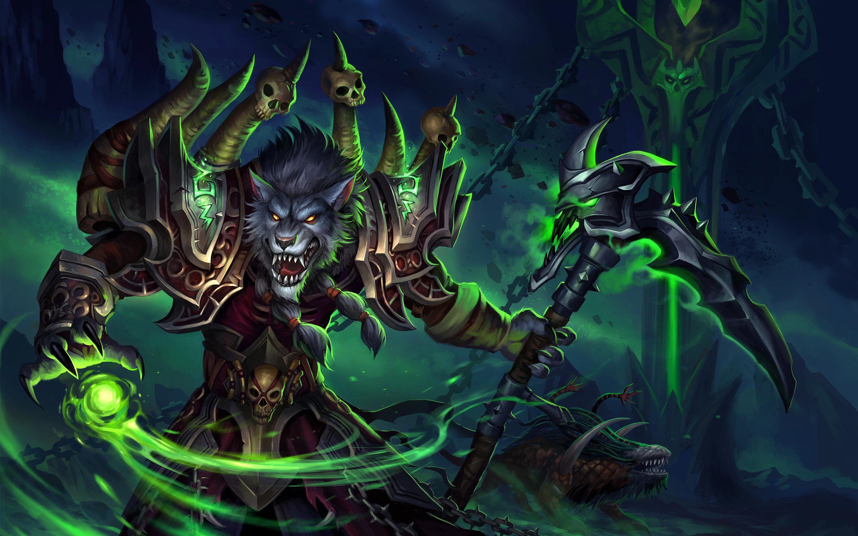 Worgen, Werewolf, World Of Warcraft, Axe, Monsters, - Hombre Lobo World Of Warcraft , HD Wallpaper & Backgrounds