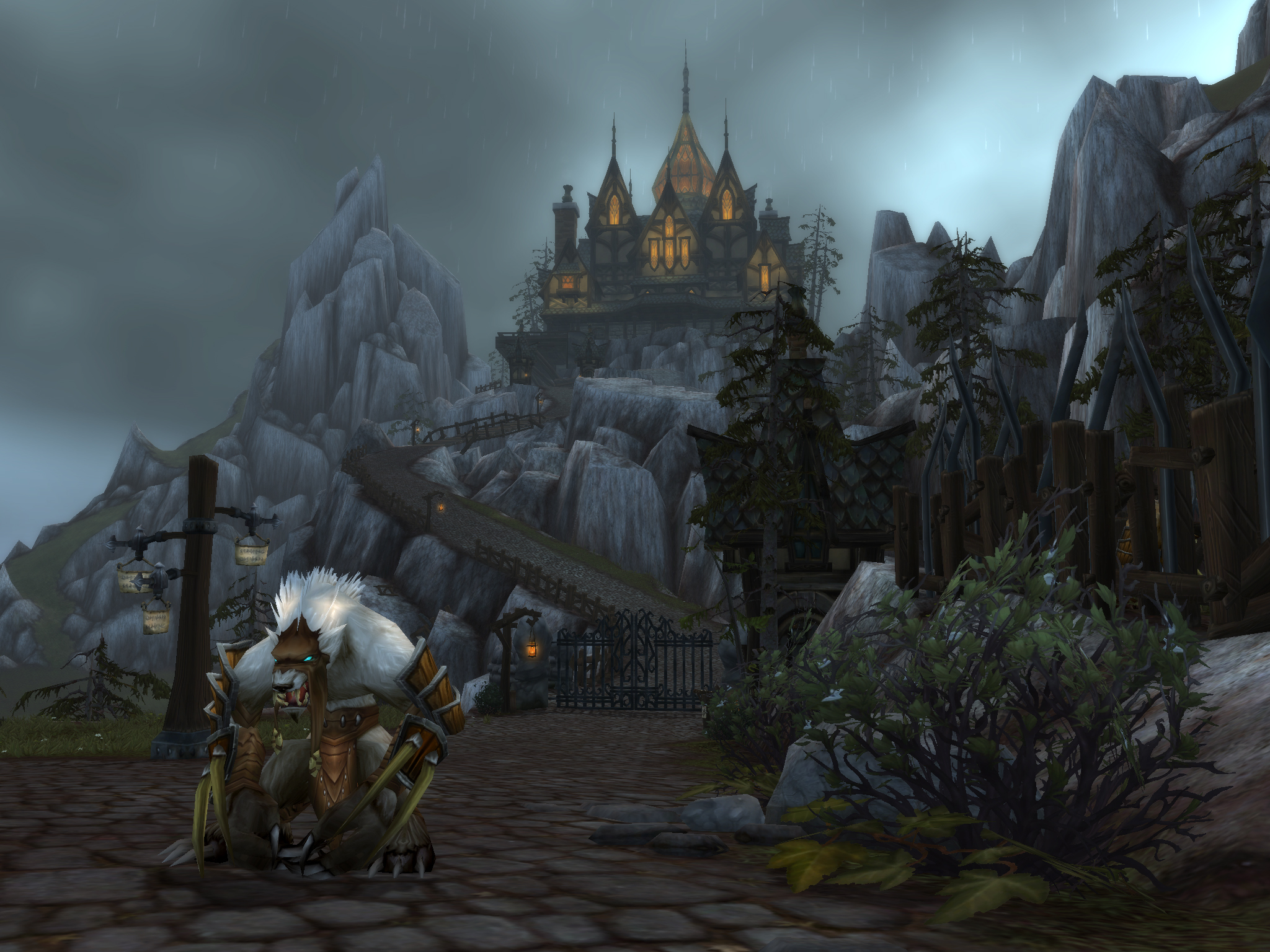 Wolf Peoples World Of Warcraft Worgen City 1313552 Hd