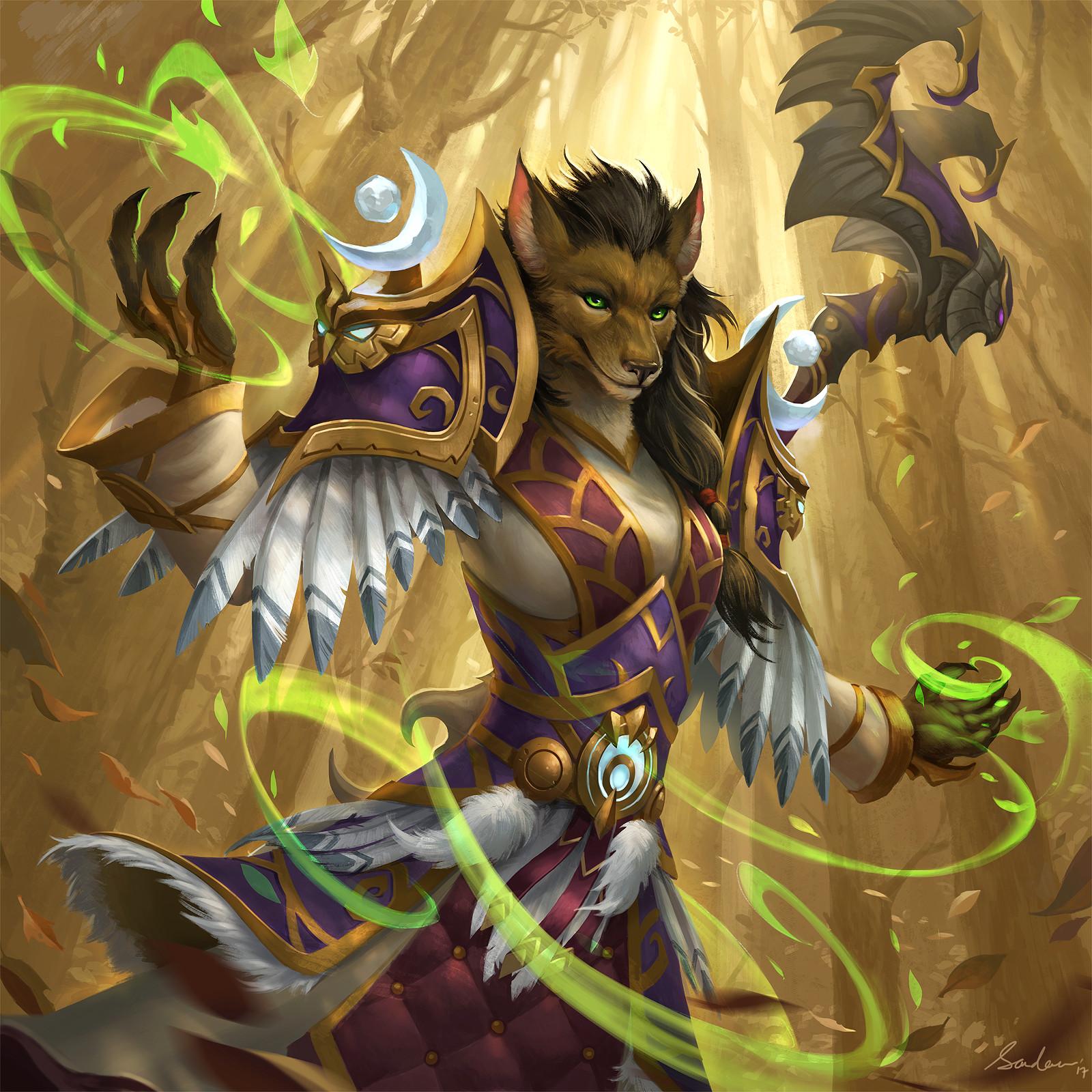 Worgen Druid By Sandara Tang World Of Warcraft Worgen Art