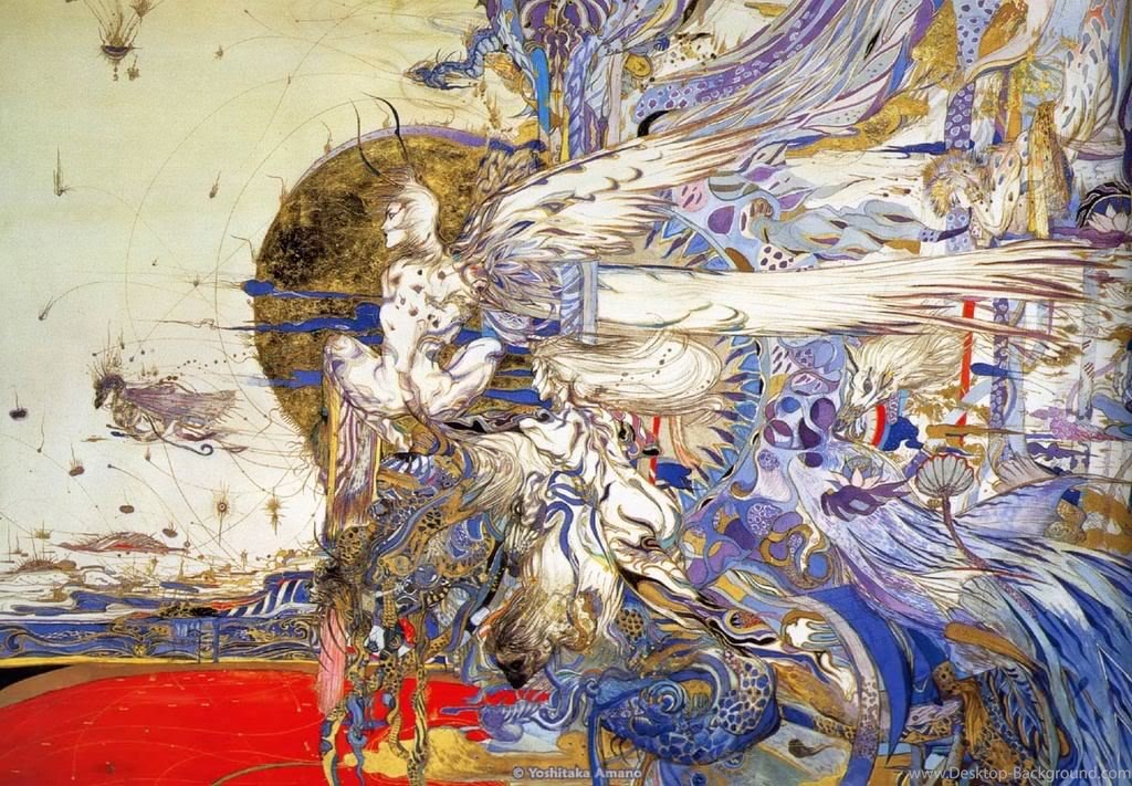 Yoshitaka Amano Final Fantasy Iv 1322318 Hd Wallpaper Backgrounds Download
