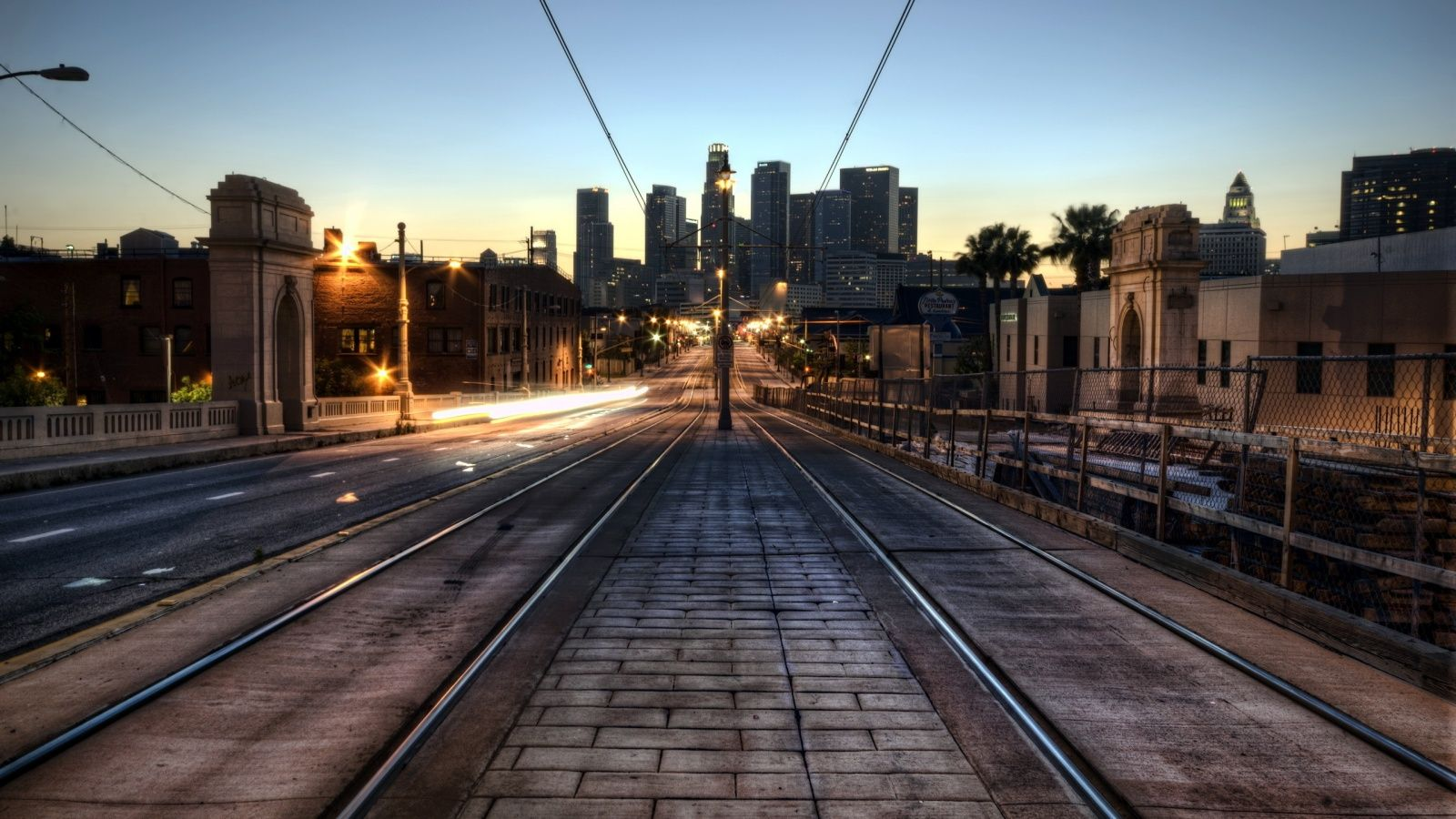 Downtown L - Ipad Wallpaper Los Angeles , HD Wallpaper & Backgrounds