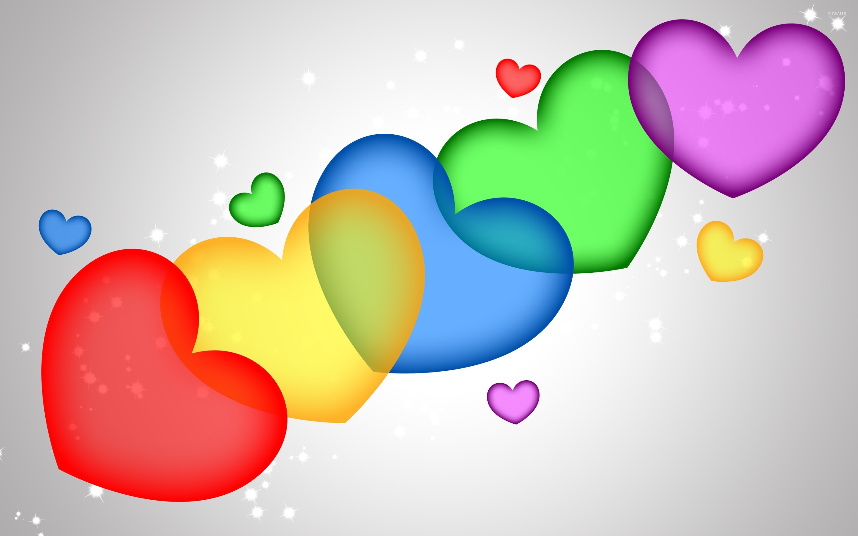 Colorful Hearts Wallpaper Full Hd - Colorful Wallpaper Hearts , HD Wallpaper & Backgrounds