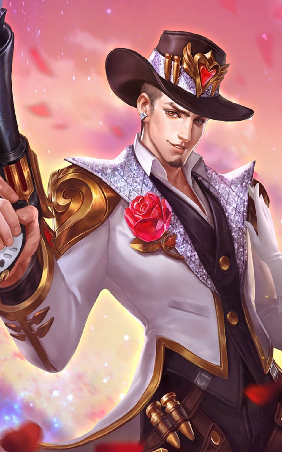 Guns And Roses Clint Mobile Legends Hd Mobile Wallpaper