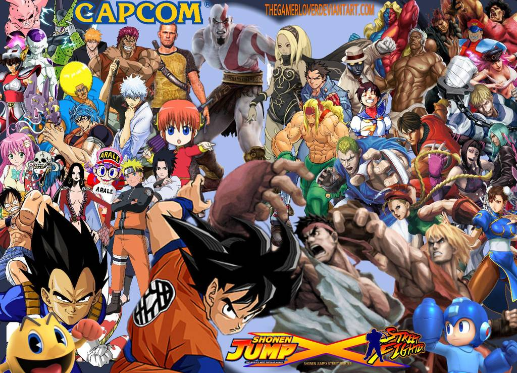Shonen Jump X Street Fighter Wallpaper By Thegamerlover Capcom Logo Rockman X1 1339315 Hd Wallpaper Backgrounds Download
