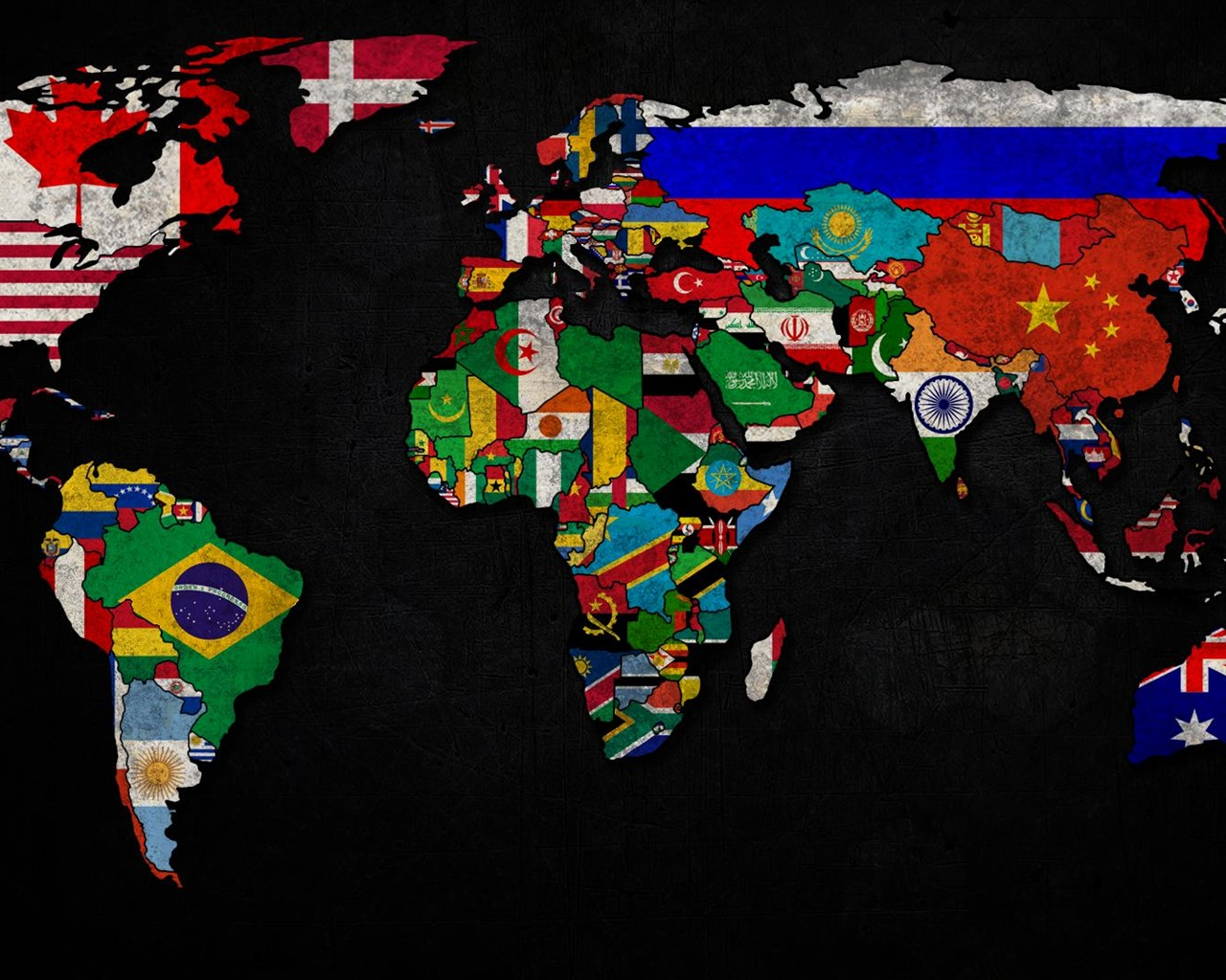 Hd Widescreen World Map Wallpaper With Flags 1339905