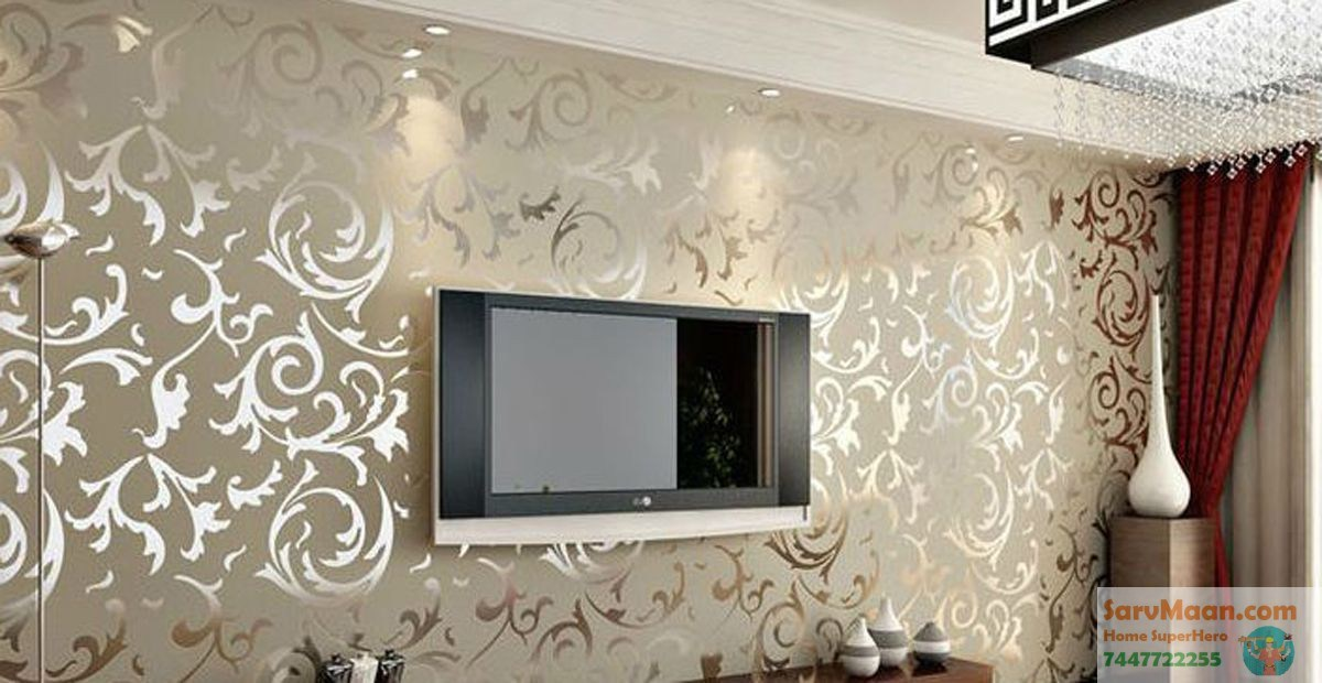 Gold Wallpaper Wall Lahore Ss Home Living Room Wallpaper