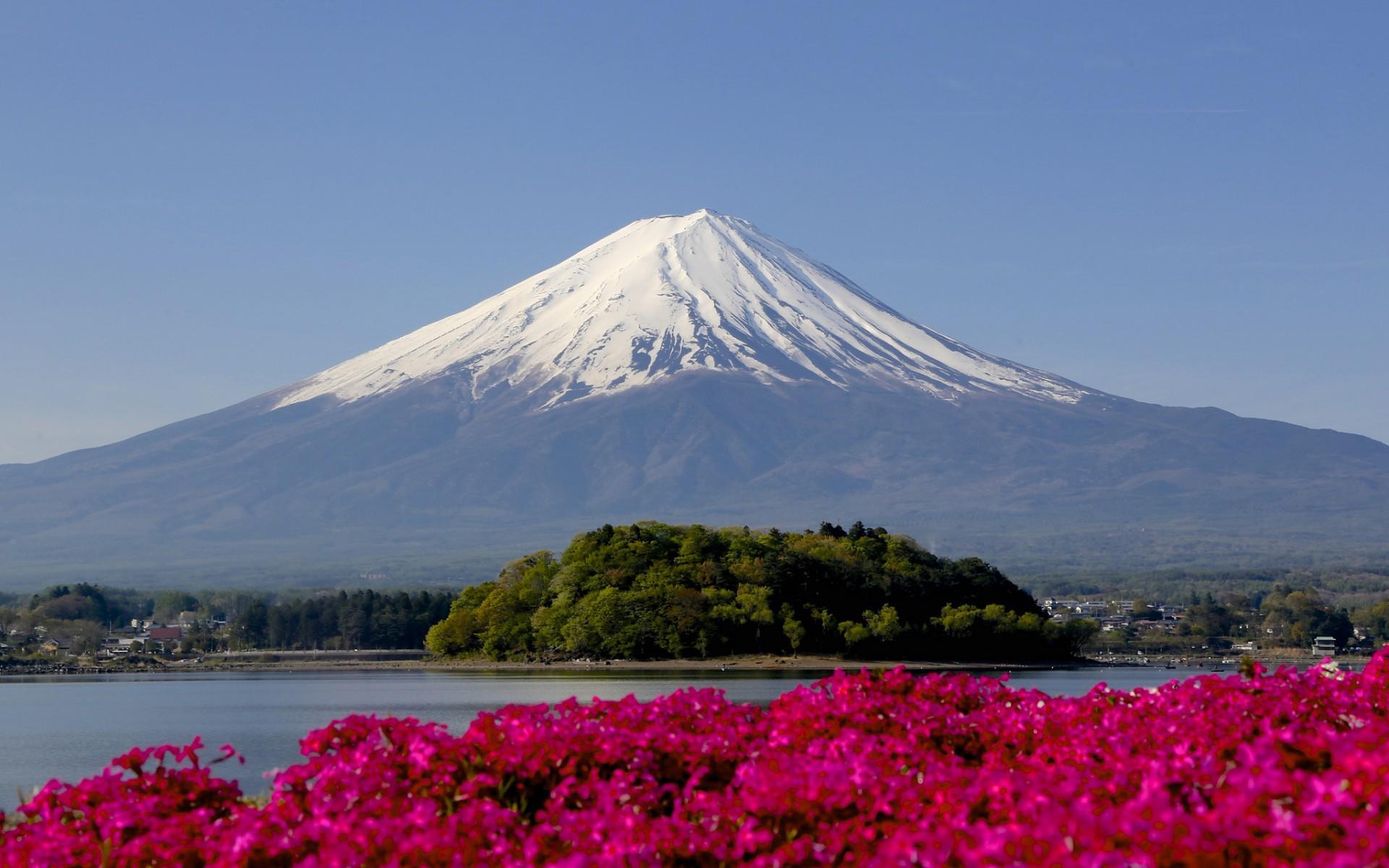 Wallpaper - Japan Landscape Mount Fuji , HD Wallpaper & Backgrounds