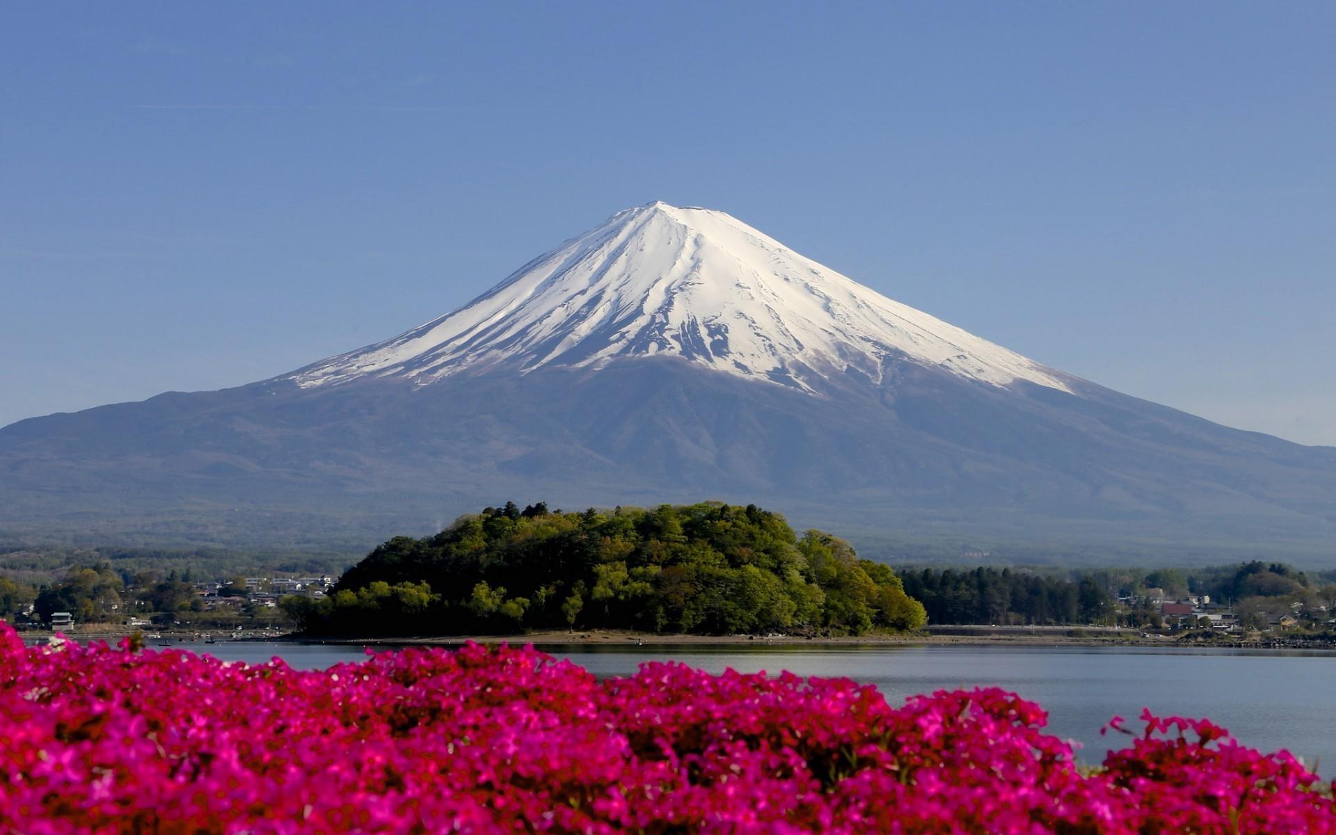 Japan Landscape Mount Fuji Wallpaper And Background - Japan Landscape Mount Fuji , HD Wallpaper & Backgrounds