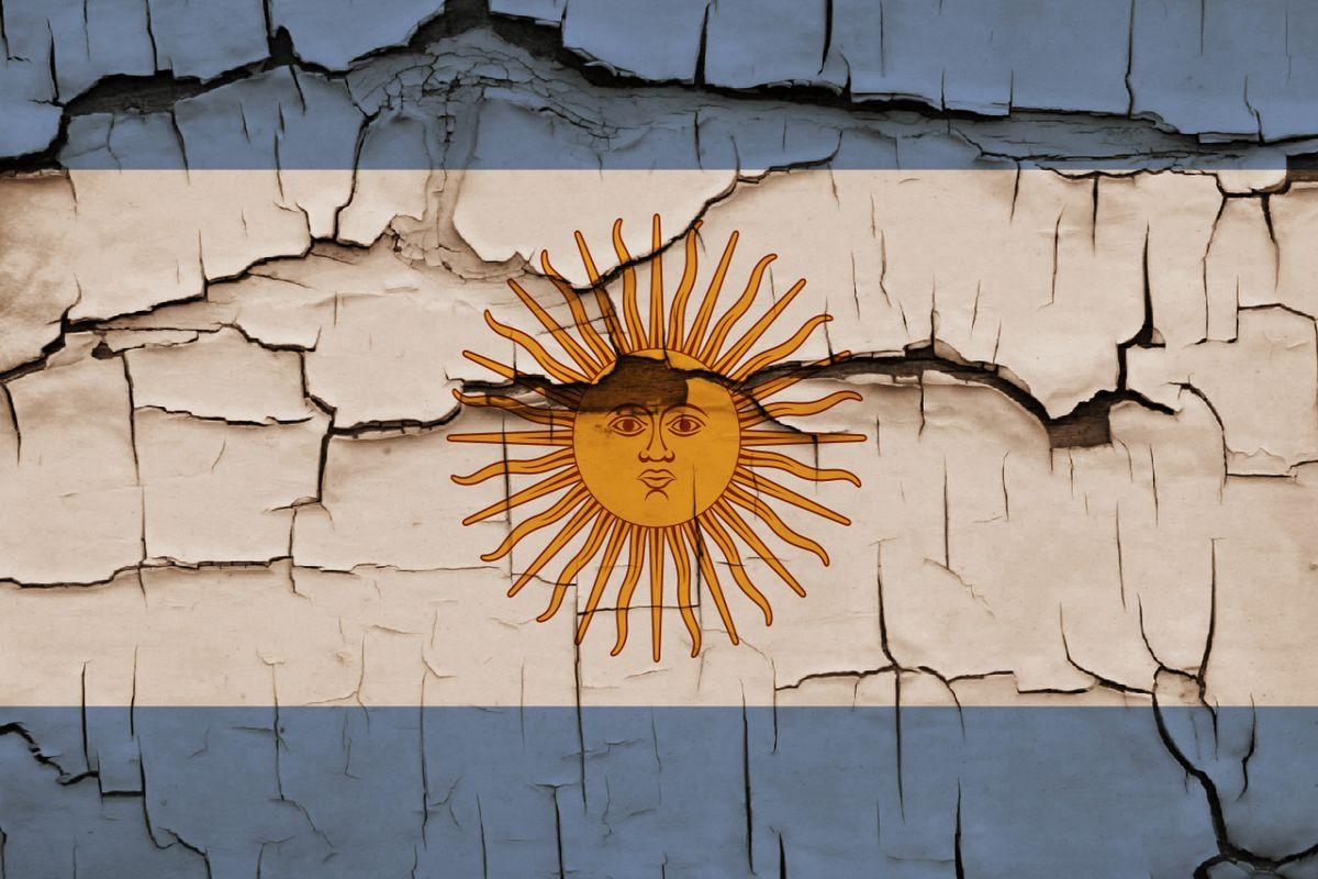 Argentina Bandera Art Efecto Quebradizo Wallpaper