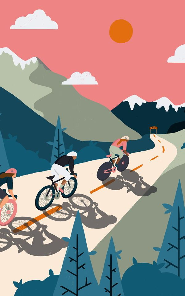 Create A Sporty But Stylish Space With The Beautifully - Bicicleta Mural , HD Wallpaper & Backgrounds