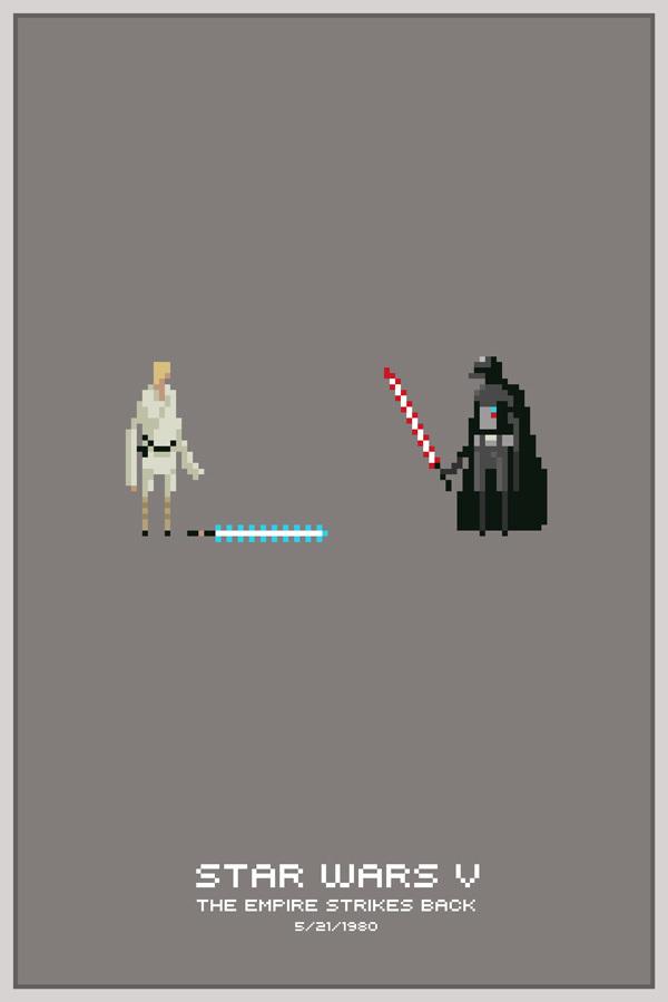Pixel Art For Design Inspiration - Star Wars Wallpaper 8 Bit , HD Wallpaper & Backgrounds