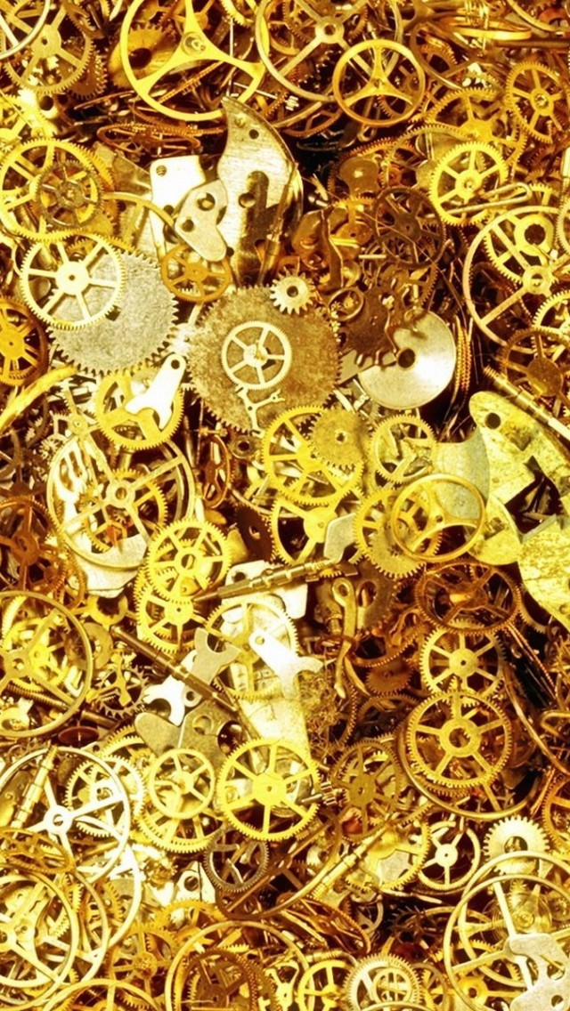 Gear Parts Watches Gold Gold Wallpaper Iphone 5 Hd