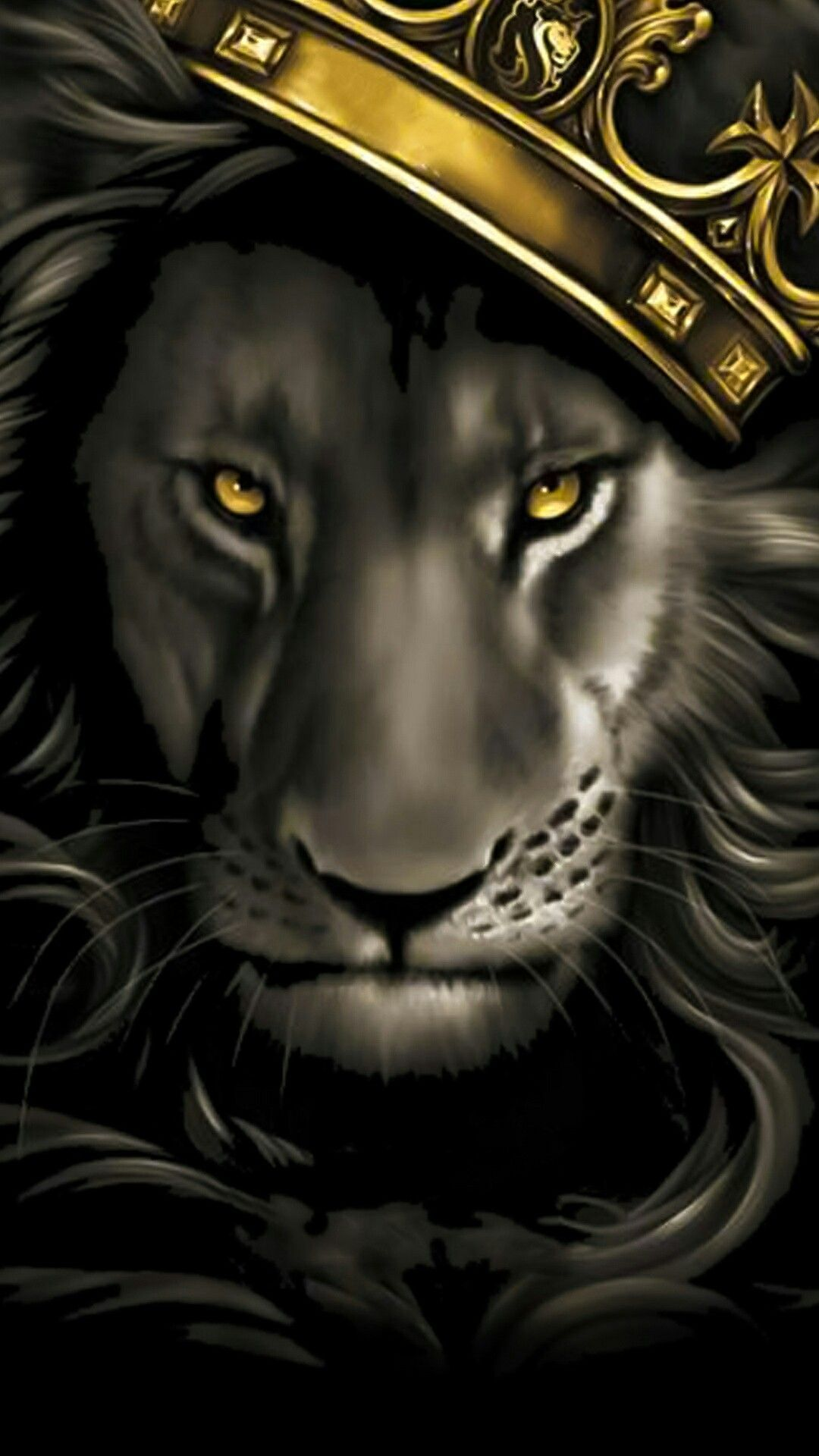 Black And Gold Lion , HD Wallpaper & Backgrounds