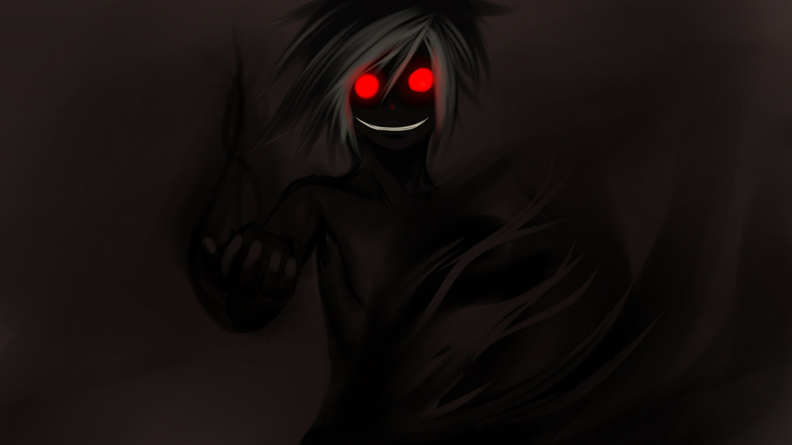 Demon Dark Red Eyes Anime Boys 4k Wallpaper Anime Eyes In