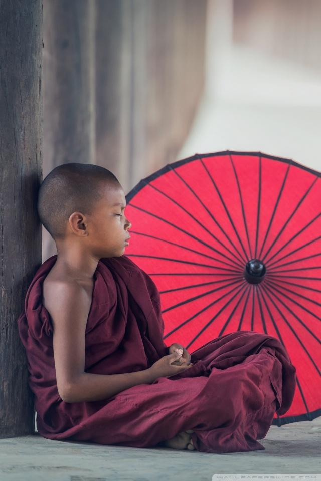 Mobile Hvga - Monk Mobile , HD Wallpaper & Backgrounds