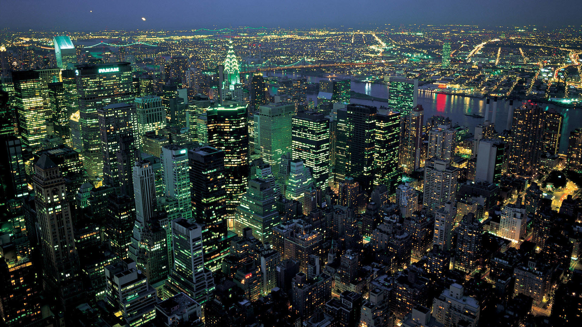 Star Wars New York Night Panorama 1366744 Hd Wallpaper Backgrounds Download