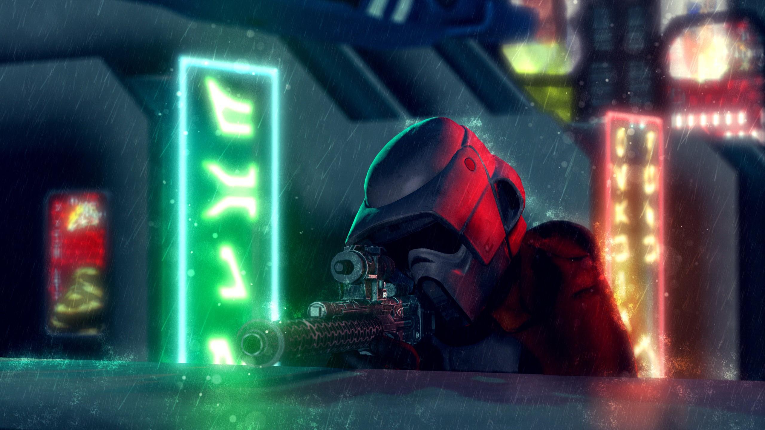 Coruscant Sniper - Star Wars Stormtrooper In Rain , HD Wallpaper & Backgrounds