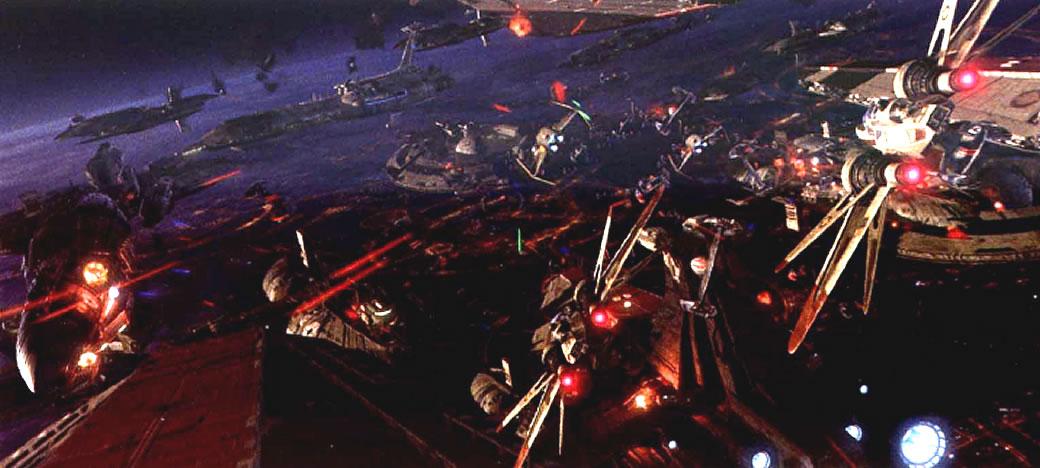 Battle Of Coruscant Star Wars Battle Scene 1366786 Hd Wallpaper Backgrounds Download