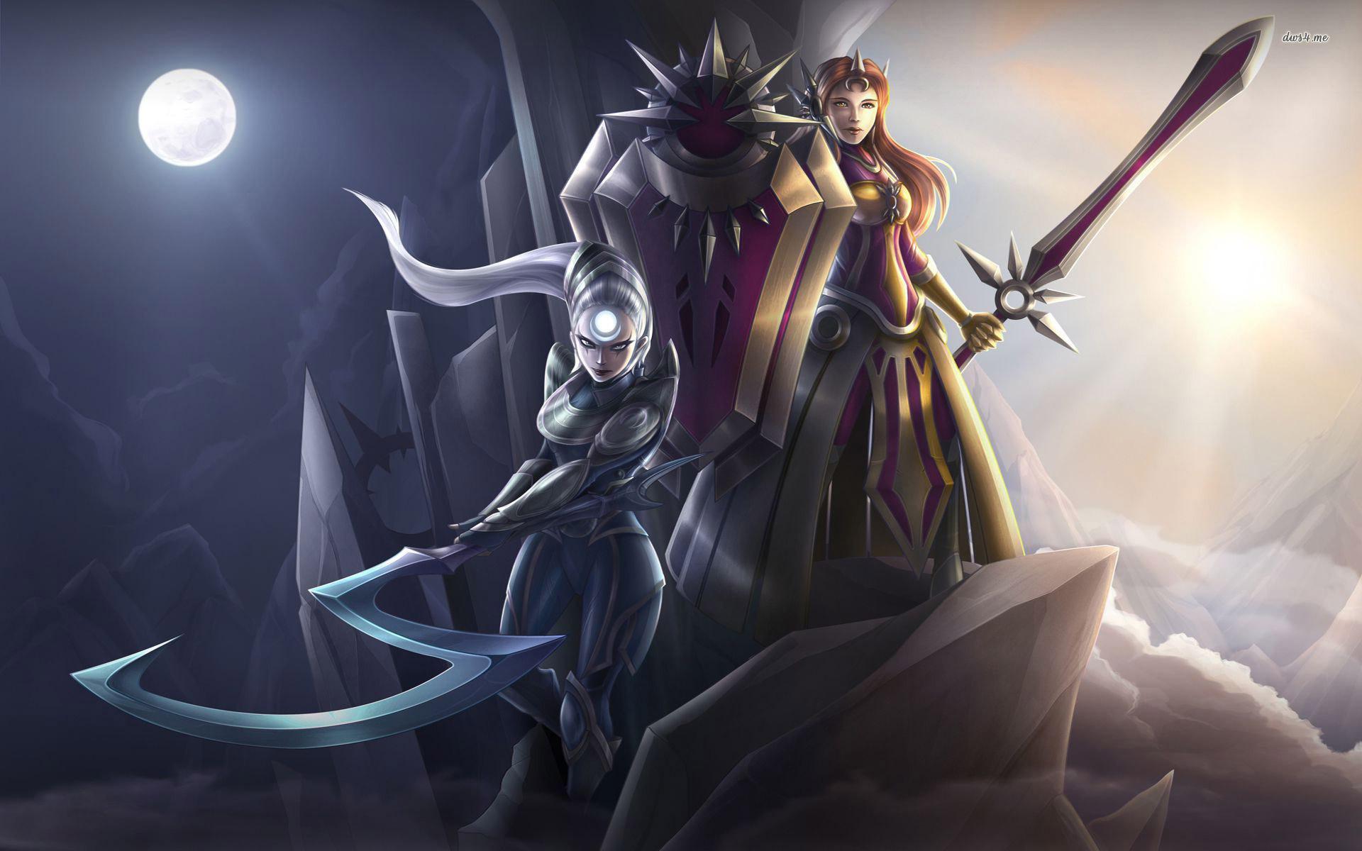 Leona And Diana League Of Legends Wallpaper Hd Leona Diana