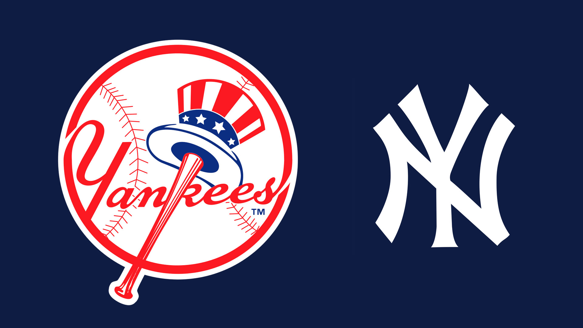 Description Mlb New York Yankees Logo Wallpaper From - New York Yankees , HD Wallpaper & Backgrounds
