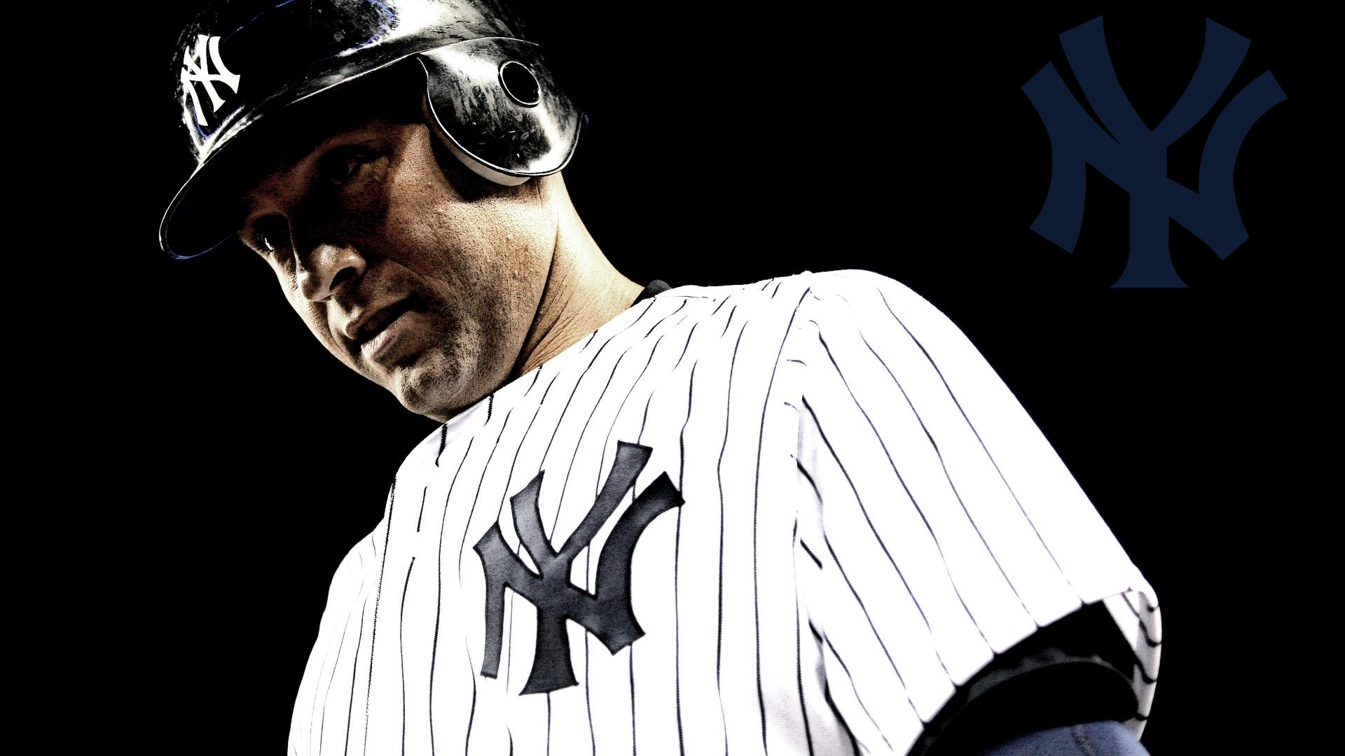 New York Yankees Derek Jeter New York Yankees Hd By - Derek Jeter Black Background , HD Wallpaper & Backgrounds