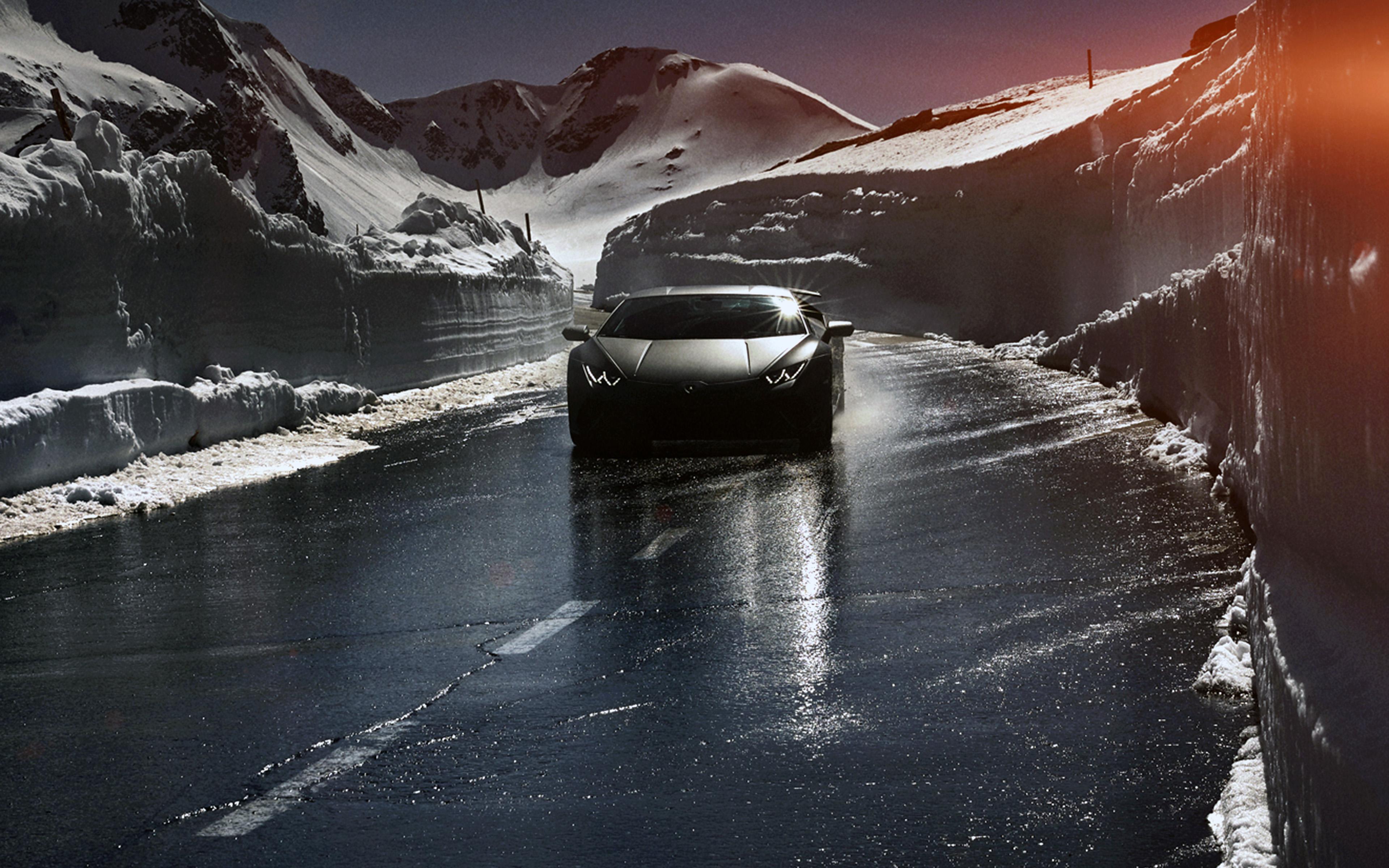 Car Lamborghini Car Dark Road Drive Art Winter 4k Hd Iphone Wallpaper Lamborghini 1368393 Hd Wallpaper Backgrounds Download