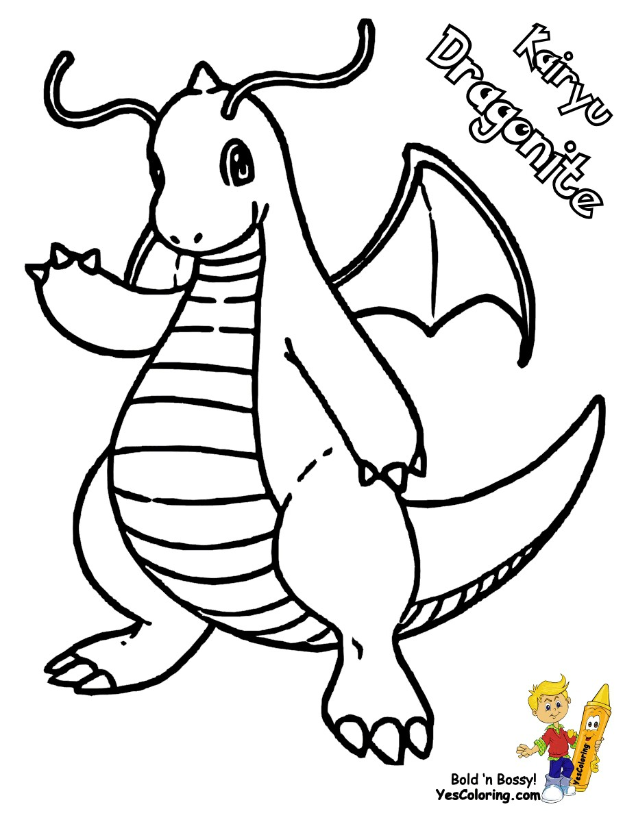 Pokemon Coloring Pages Dragonite Wallpaper Details - Dragonite Pokemon Coloring Pages , HD Wallpaper & Backgrounds