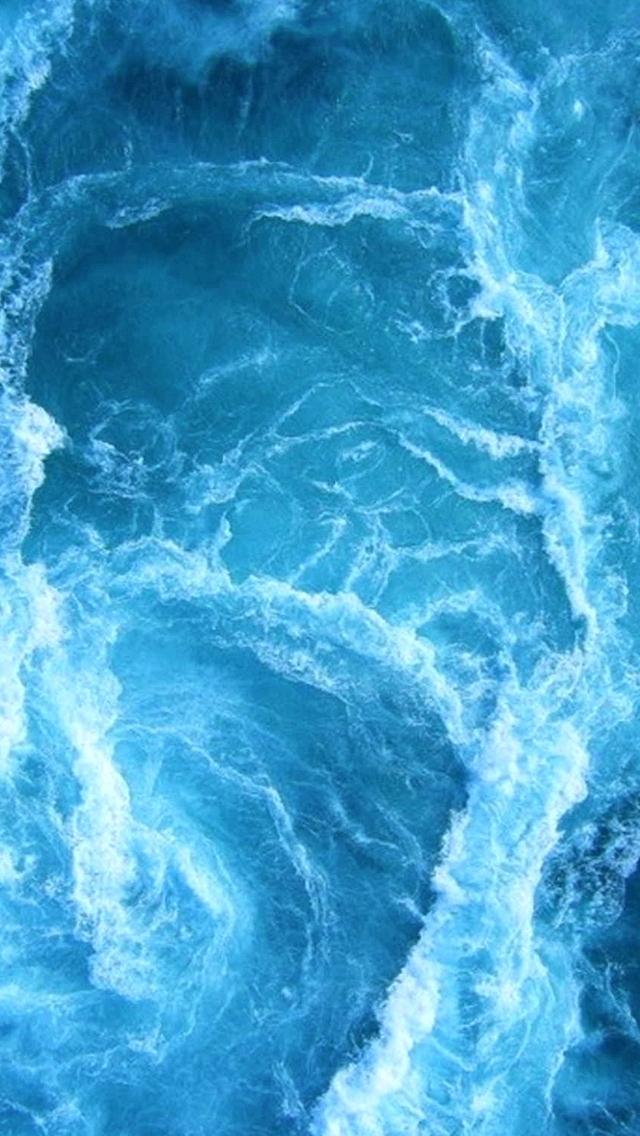 Ocean Wall Paper Swirling Blue Waves Wallpaper Tumblr Waves Wallpaper Iphone X 1376092 Hd Wallpaper Backgrounds Download