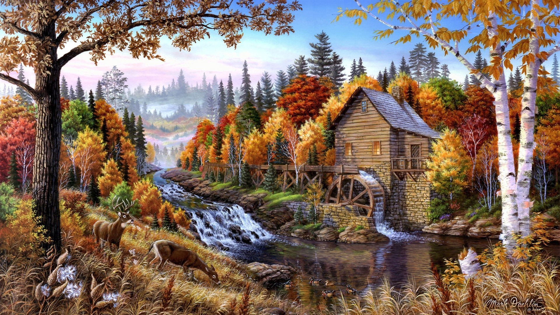 138 1380274 artwork forests home oil painting paintings wallpaper hd