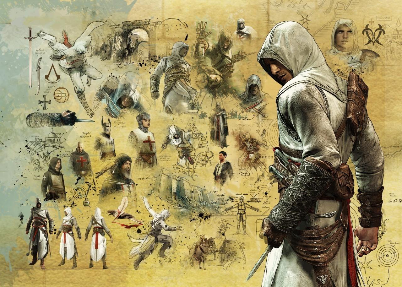 Wallpaper Black Flag Assassins Creed Ezio Altair Connor