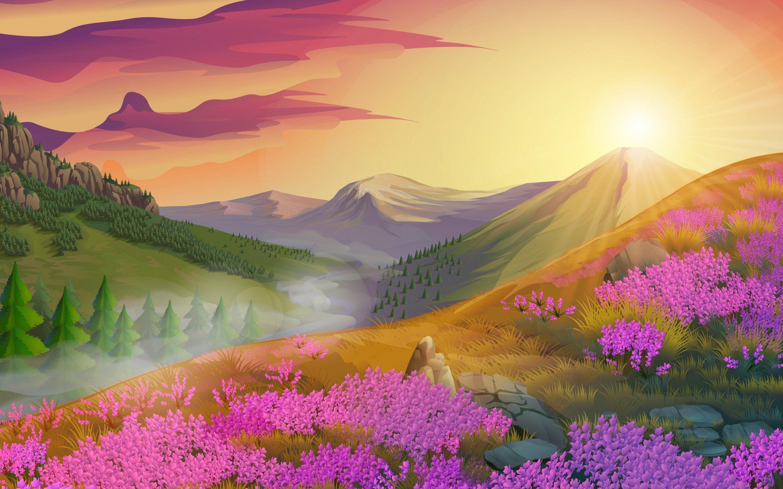 Oil Painting Wallpaper Source - Painting Of A Nature , HD Wallpaper & Backgrounds