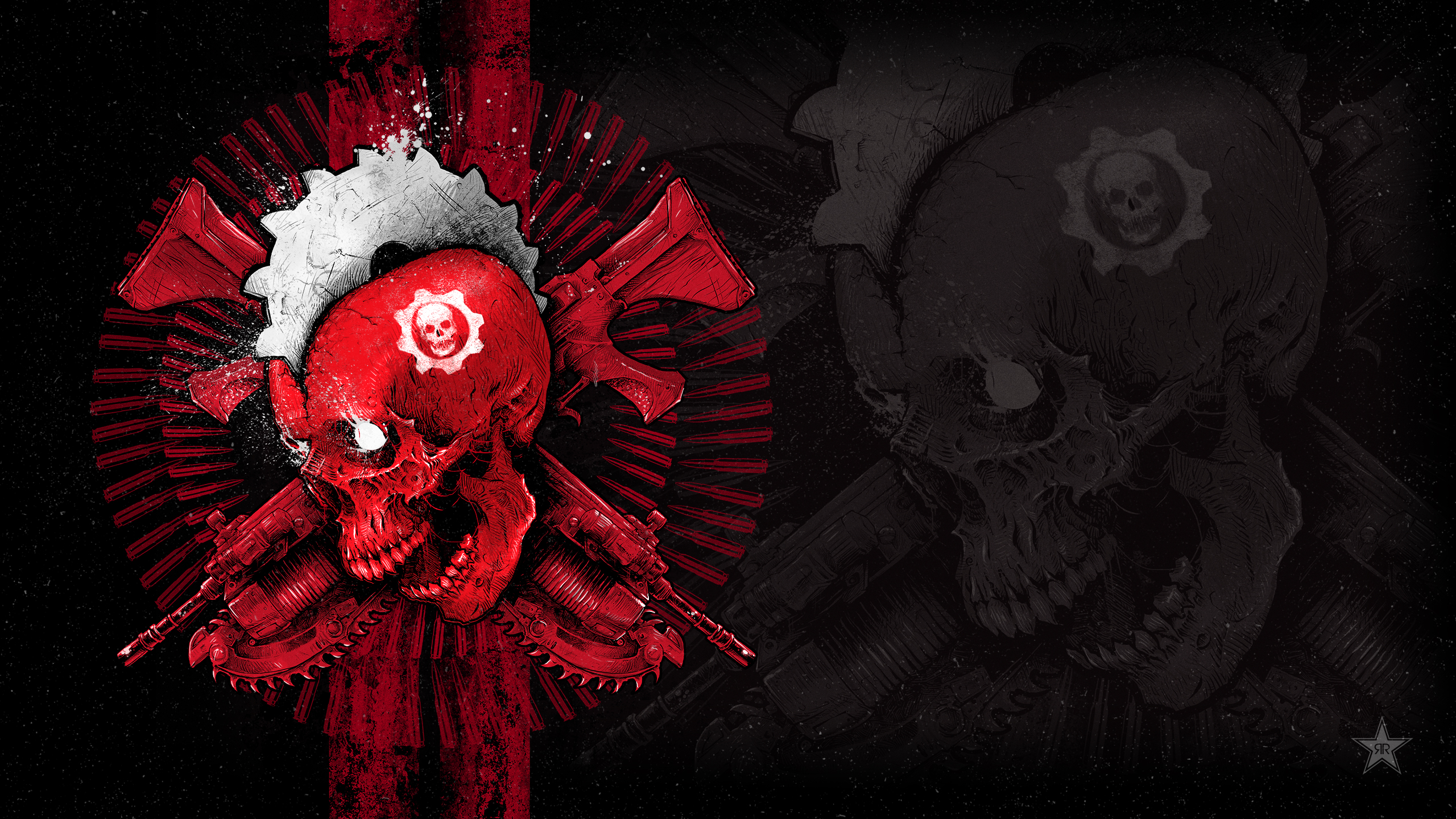 Games Godmachine Wallpaper Red Gears Of War 1381785 Hd