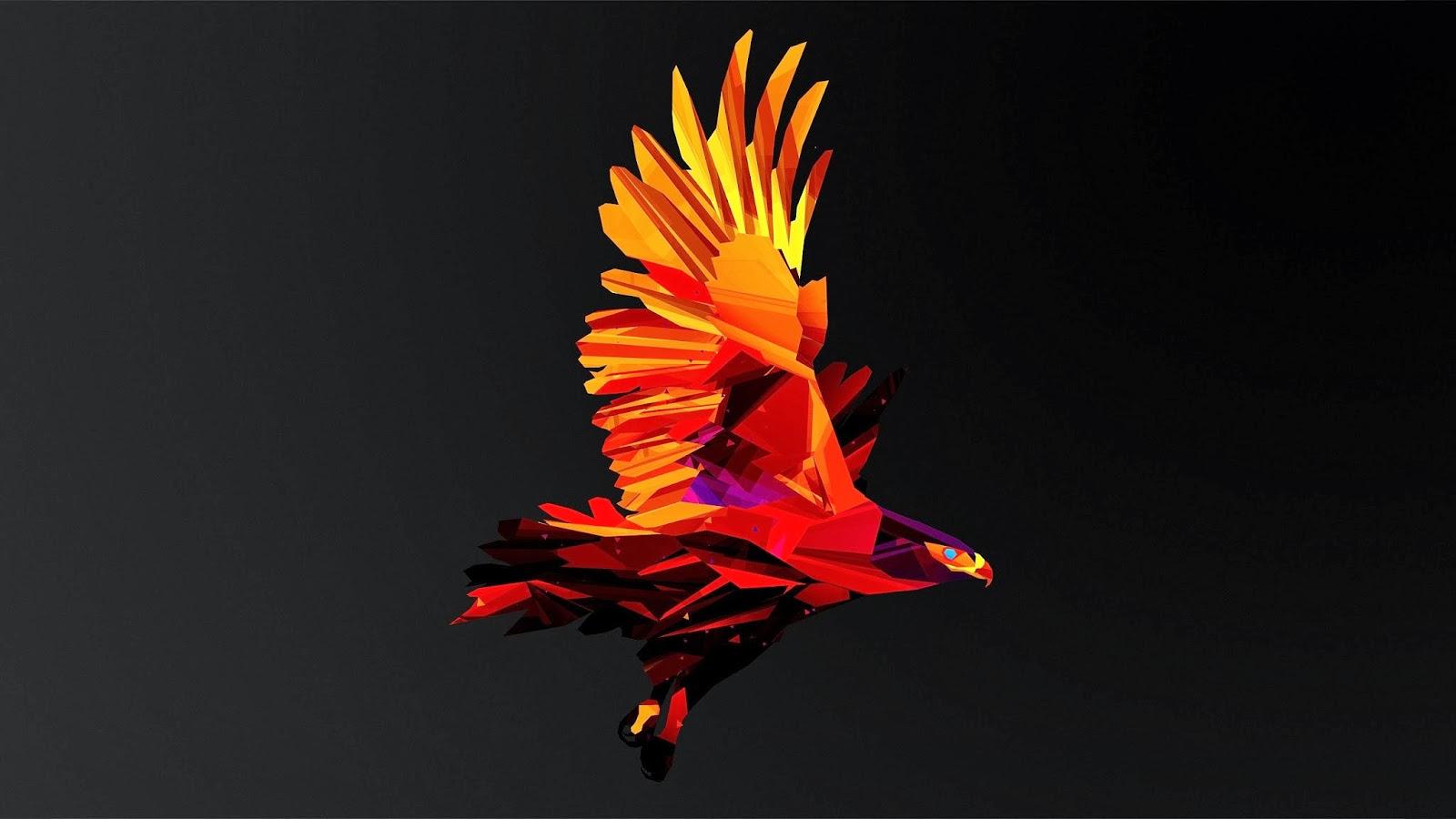 Aguila De Fuego En 3d Fondos Pantalla Hd Wallpapers Low