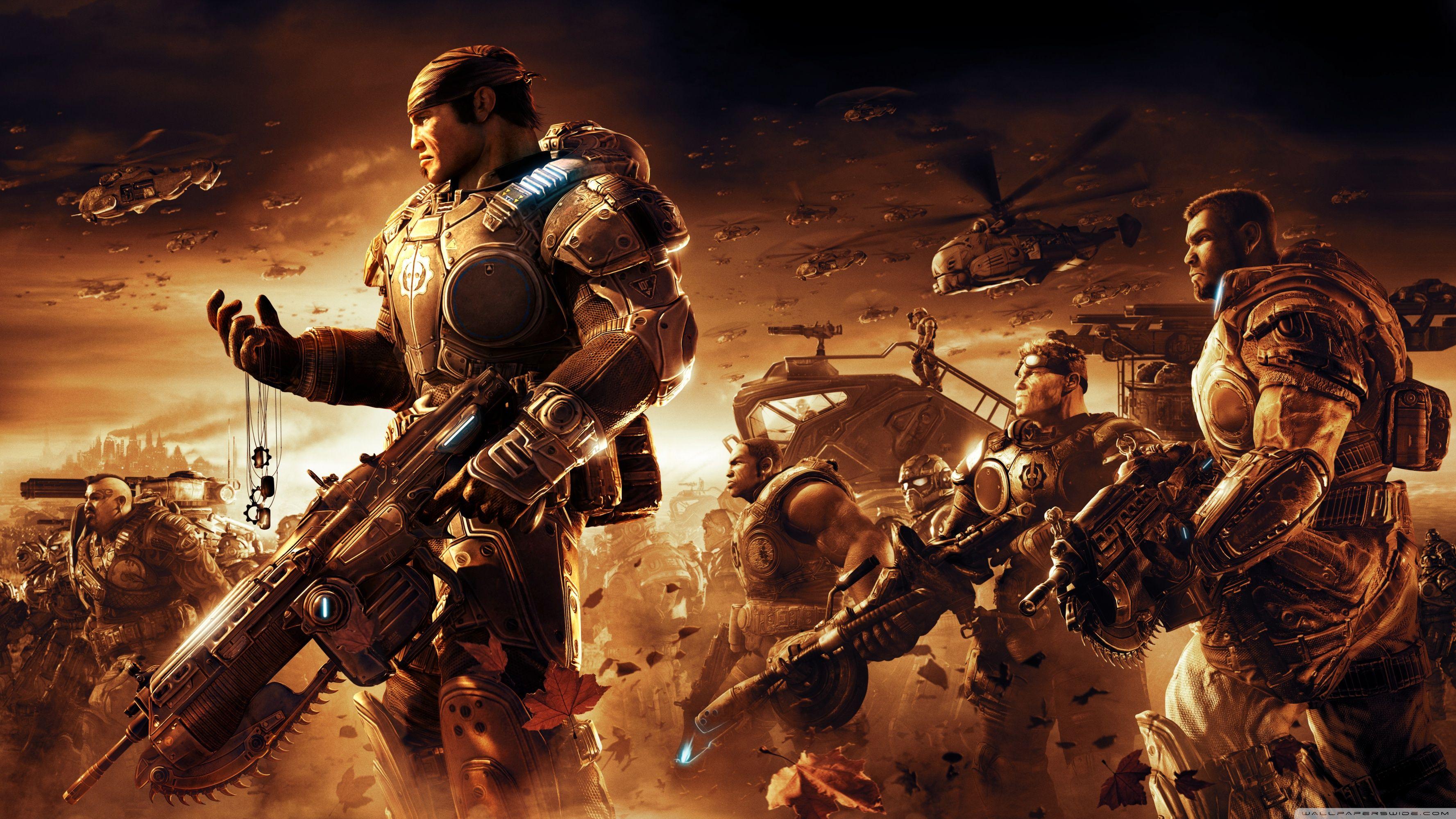 Gears Of War 2 4k 1382225 Hd Wallpaper Backgrounds