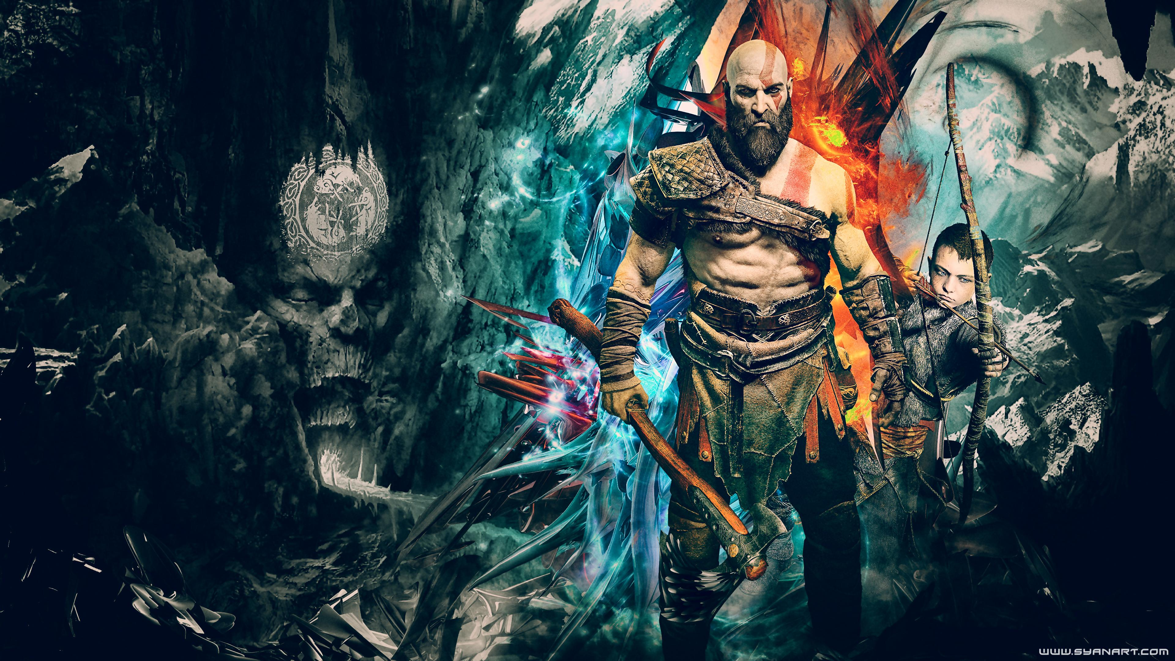 God God Of War 4 4k 1382606 Hd Wallpaper