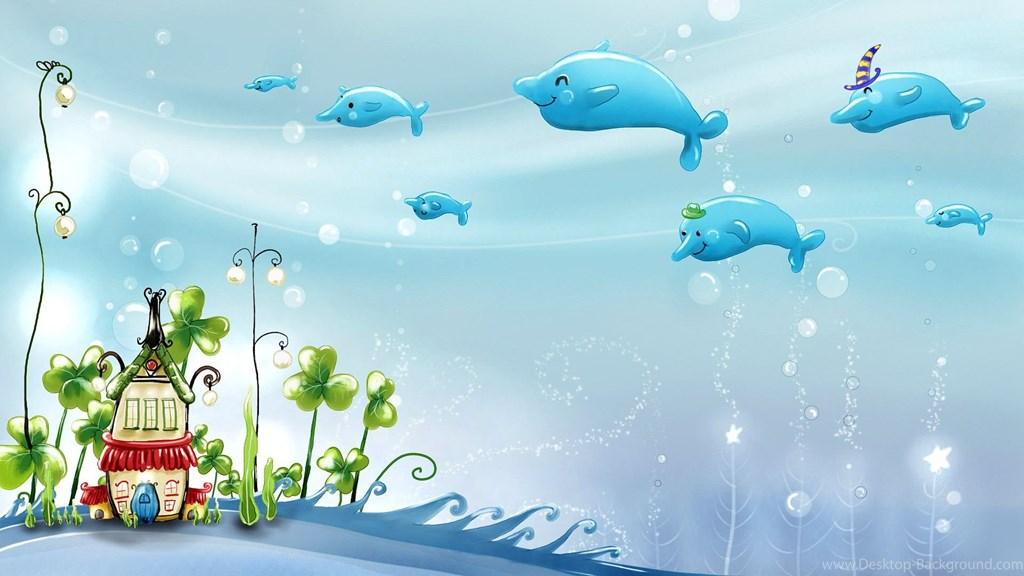 Cute Cartoons Wallpapers For Desktop , HD Wallpaper & Backgrounds