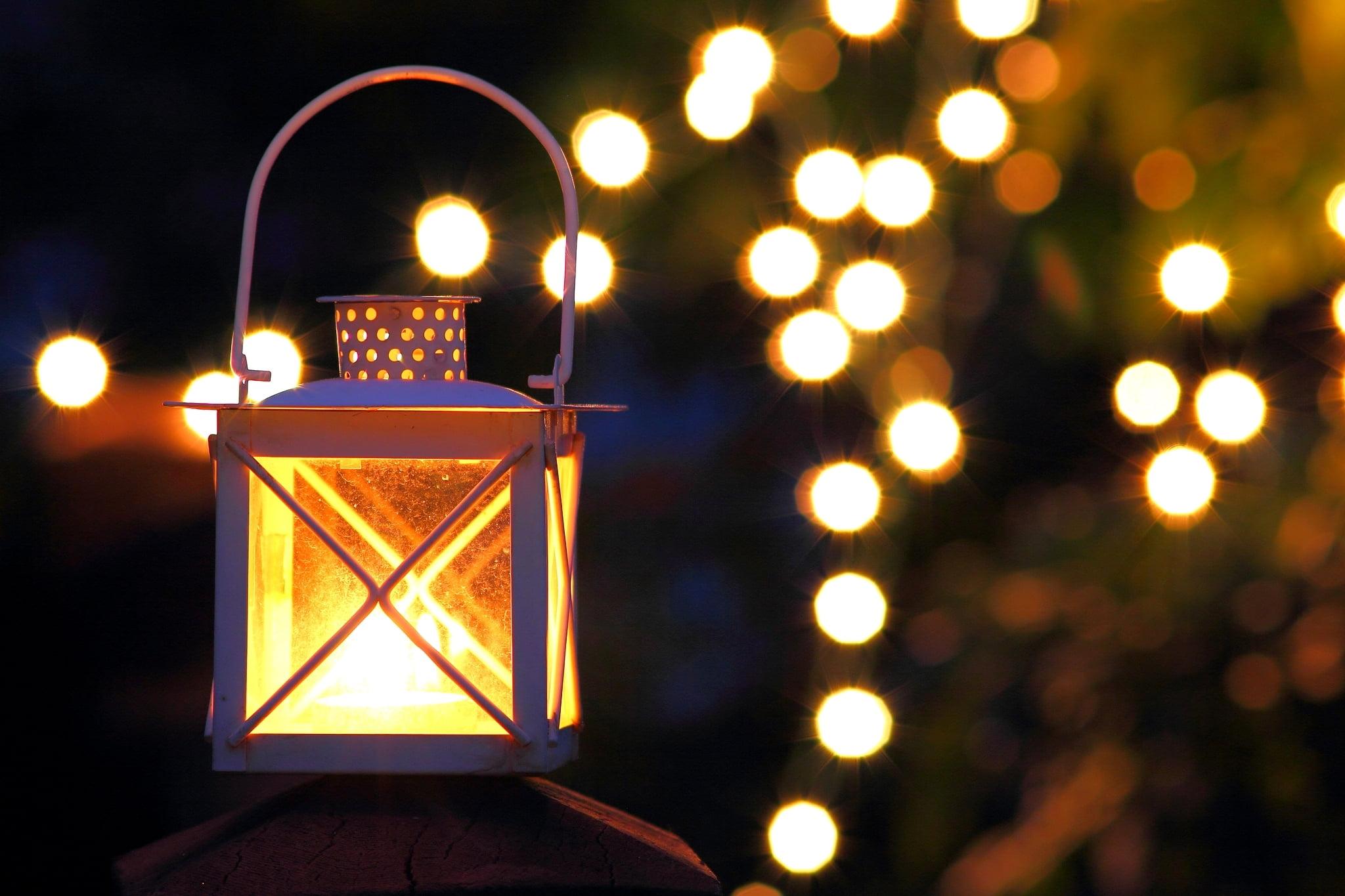 White Metal Lantern Light Night Lights The Evening Fonarik Oboi 1384790 Hd Wallpaper Backgrounds Download