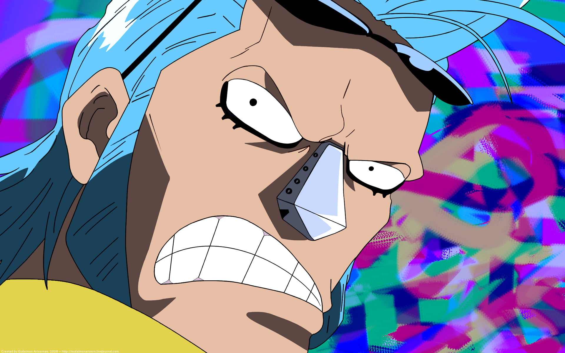 One Piece Character One Piece Anime Frankie Hd Wallpaper Franky 1387979 Hd Wallpaper Backgrounds Download