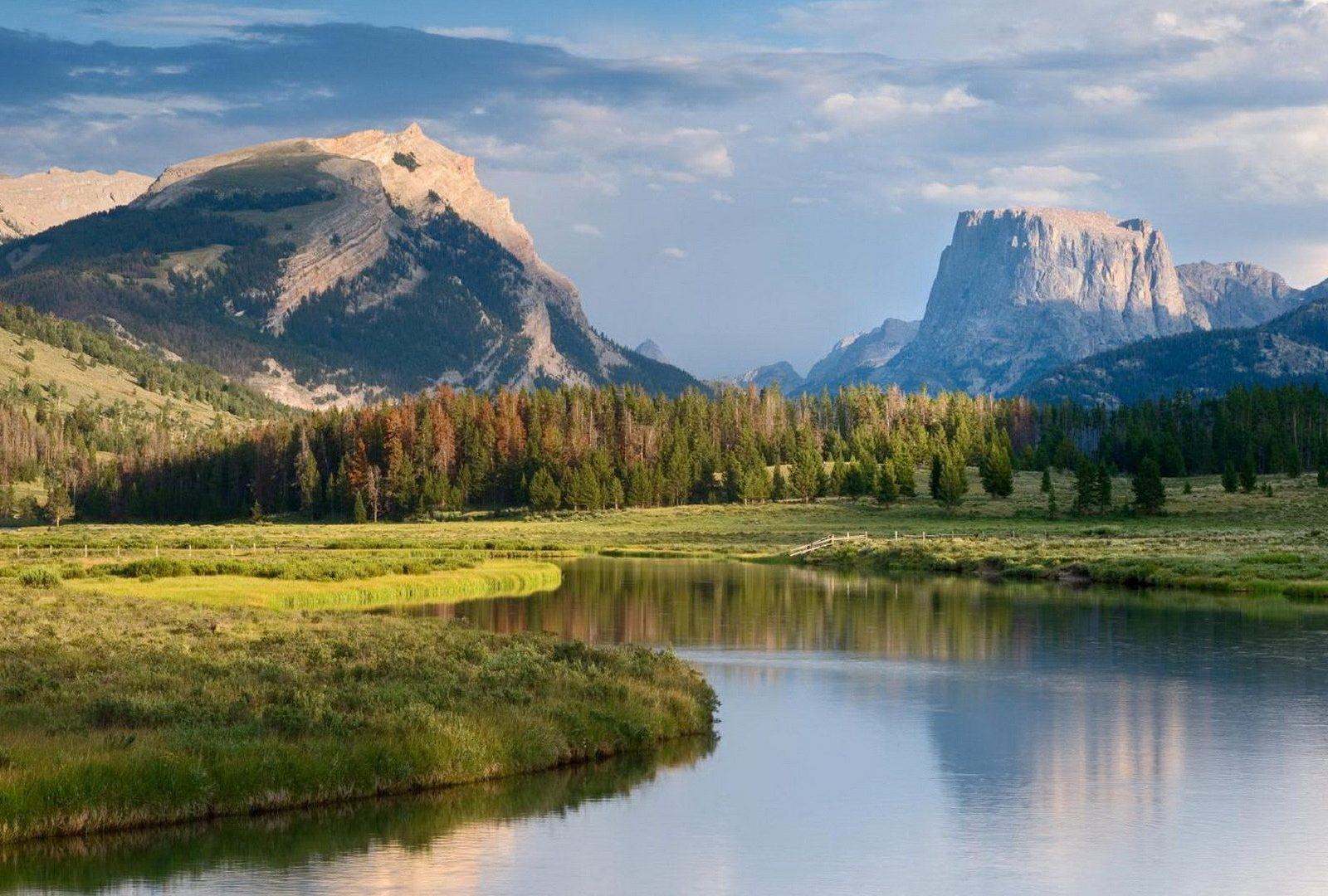 Mountains Natures Beauty Scenery Lake Sky Mountain - Headwaters Green River , HD Wallpaper & Backgrounds