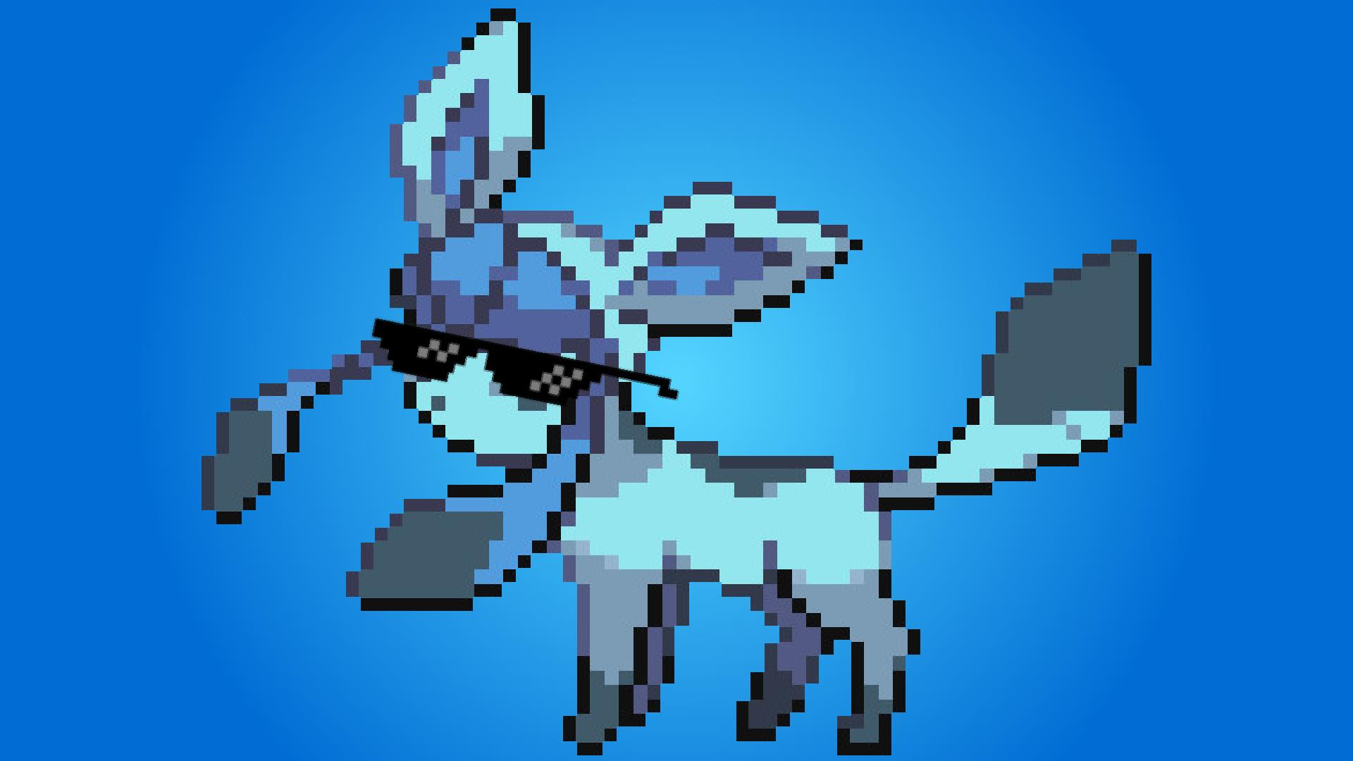 Mah Glaceon Pokemon Glaceon Pixel Art 1395054 Hd