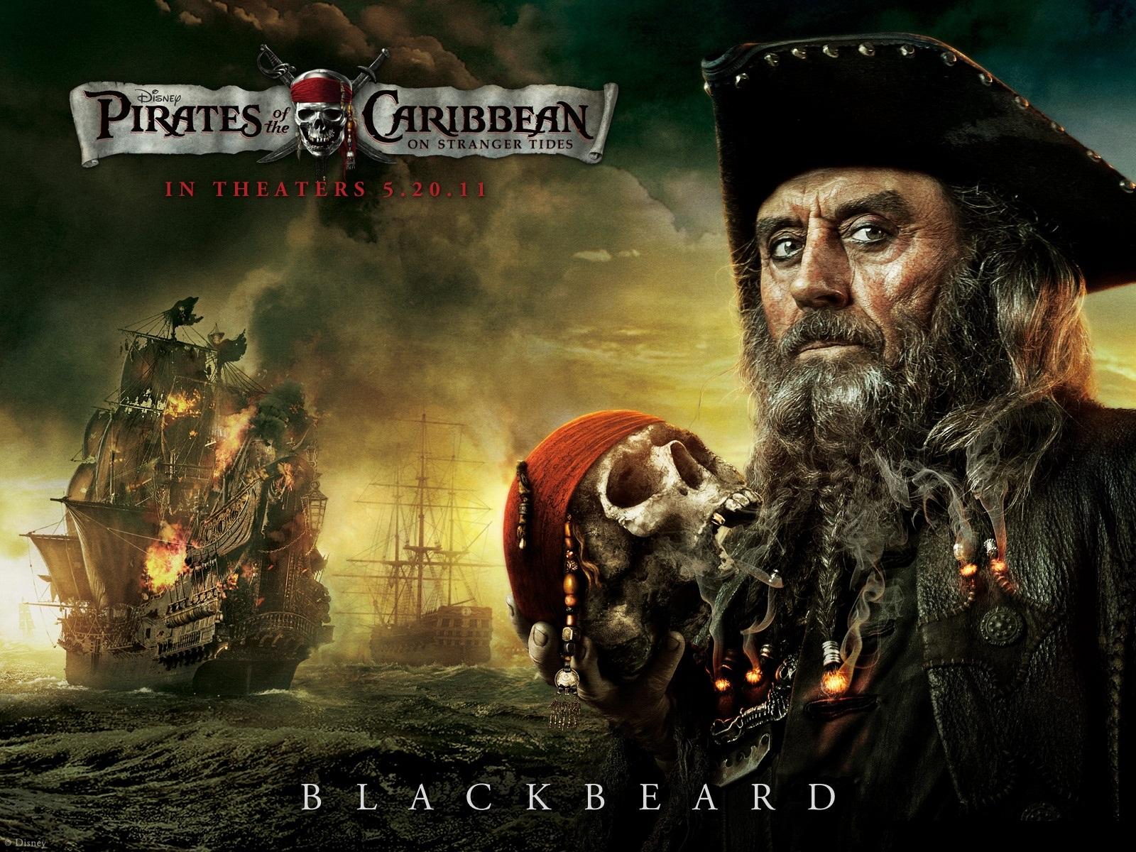 Blackbeard 2011 Pirates Of The Caribbean On Stranger - Pirate Of Caribbean 4 , HD Wallpaper & Backgrounds