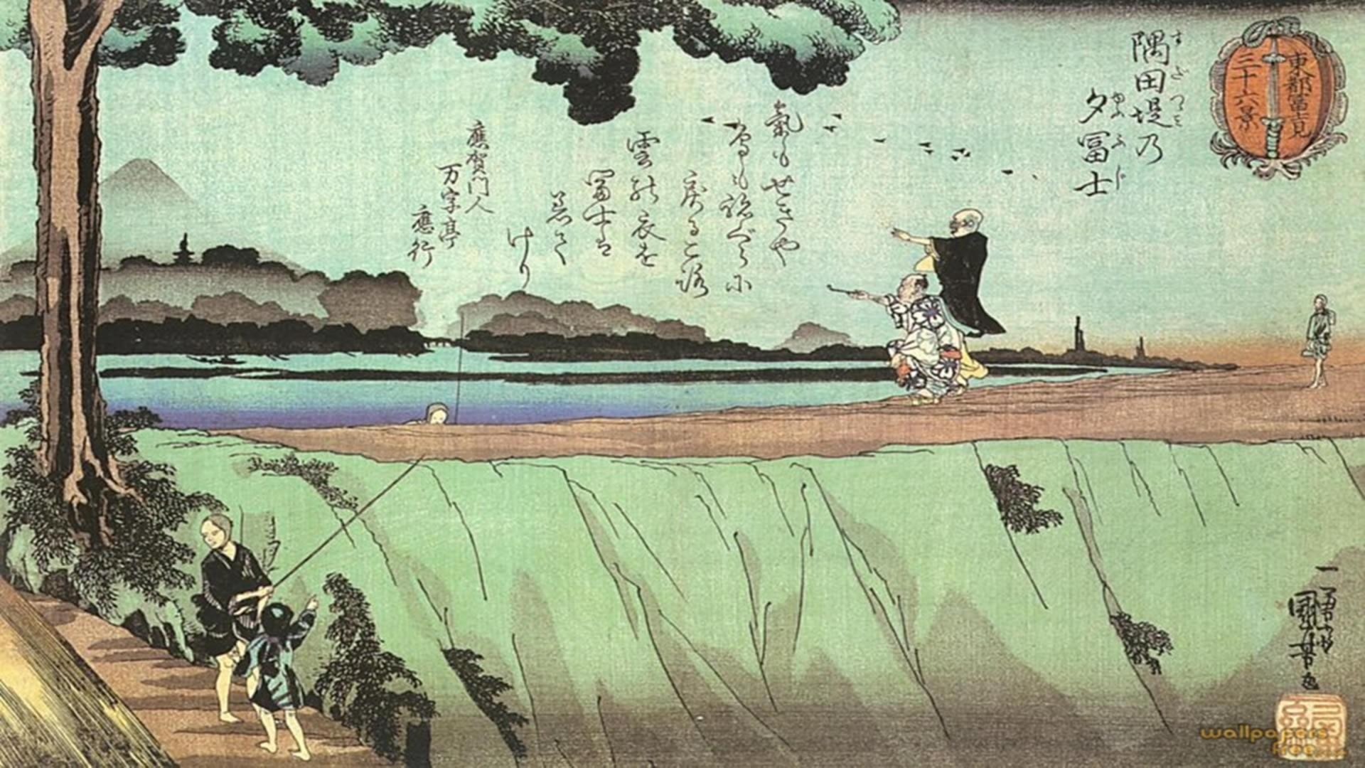 Title - Desktop Wallpaper Japanese Art , HD Wallpaper & Backgrounds