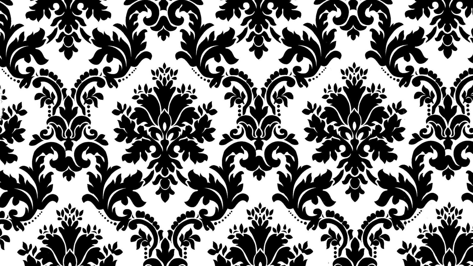 pattern wallpaper black and white